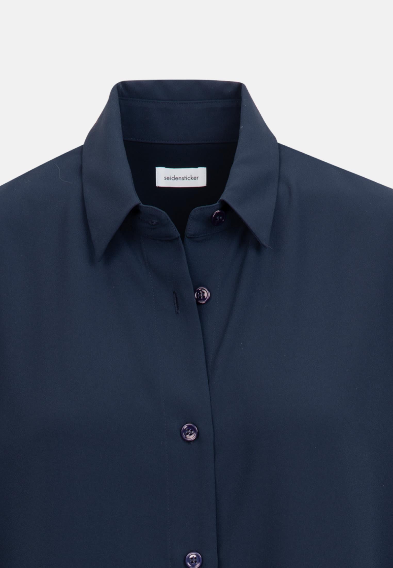 Crepe Long Blouse made of 100% Polyester in Dark blue |  Seidensticker Onlineshop