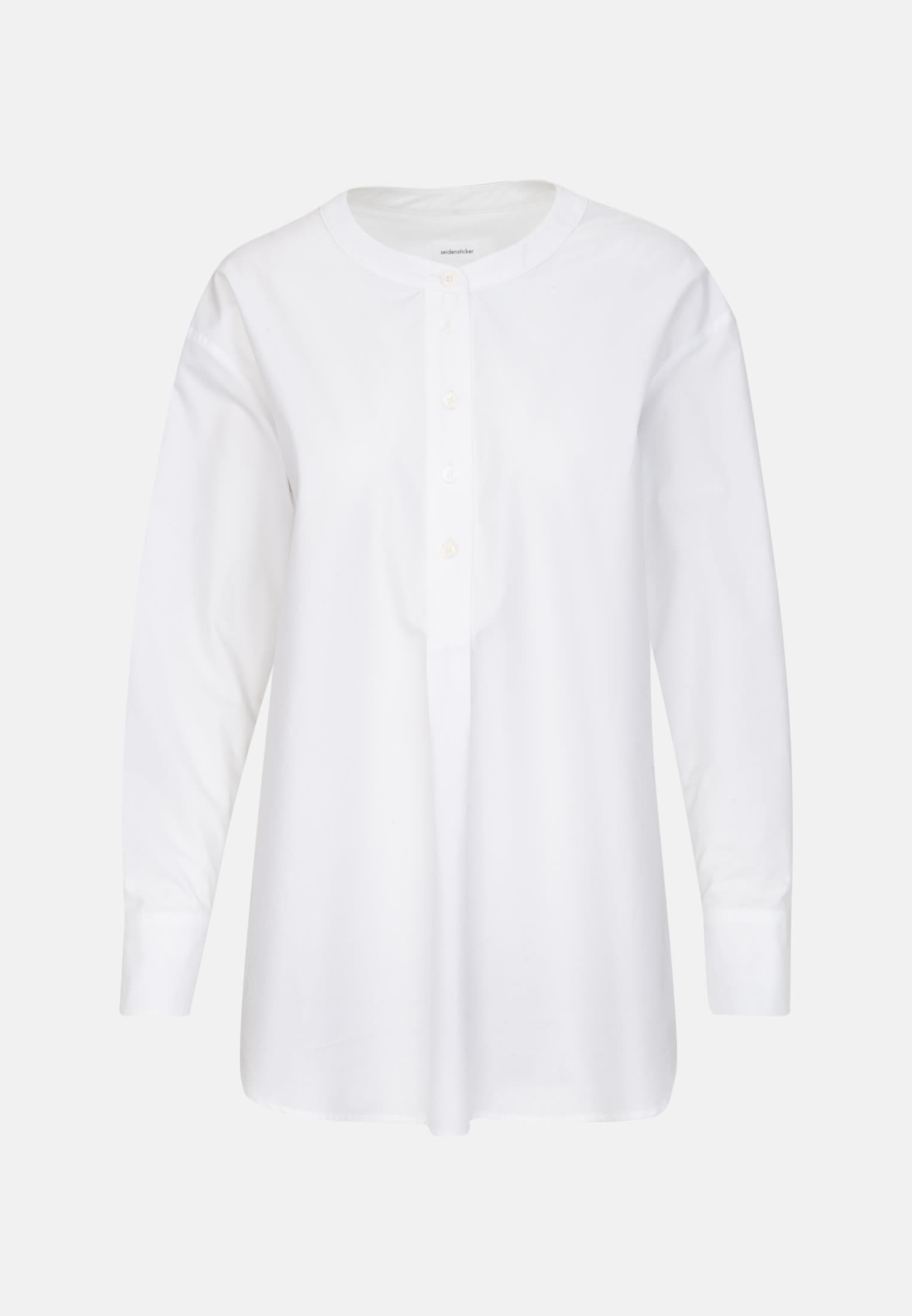 Poplin Long Blouse made of 100% Cotton in White |  Seidensticker Onlineshop