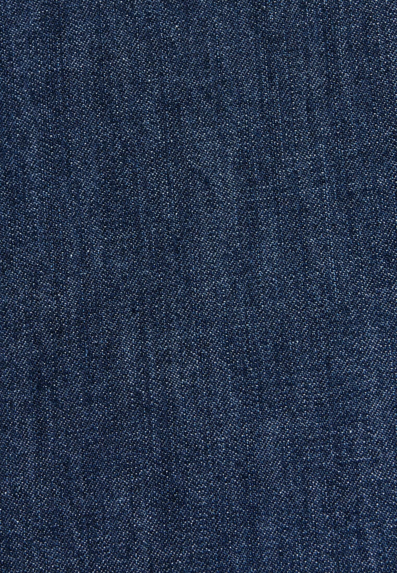 Denim Hemdbluse aus 100% Baumwolle in Dunkelblau |  Seidensticker Onlineshop