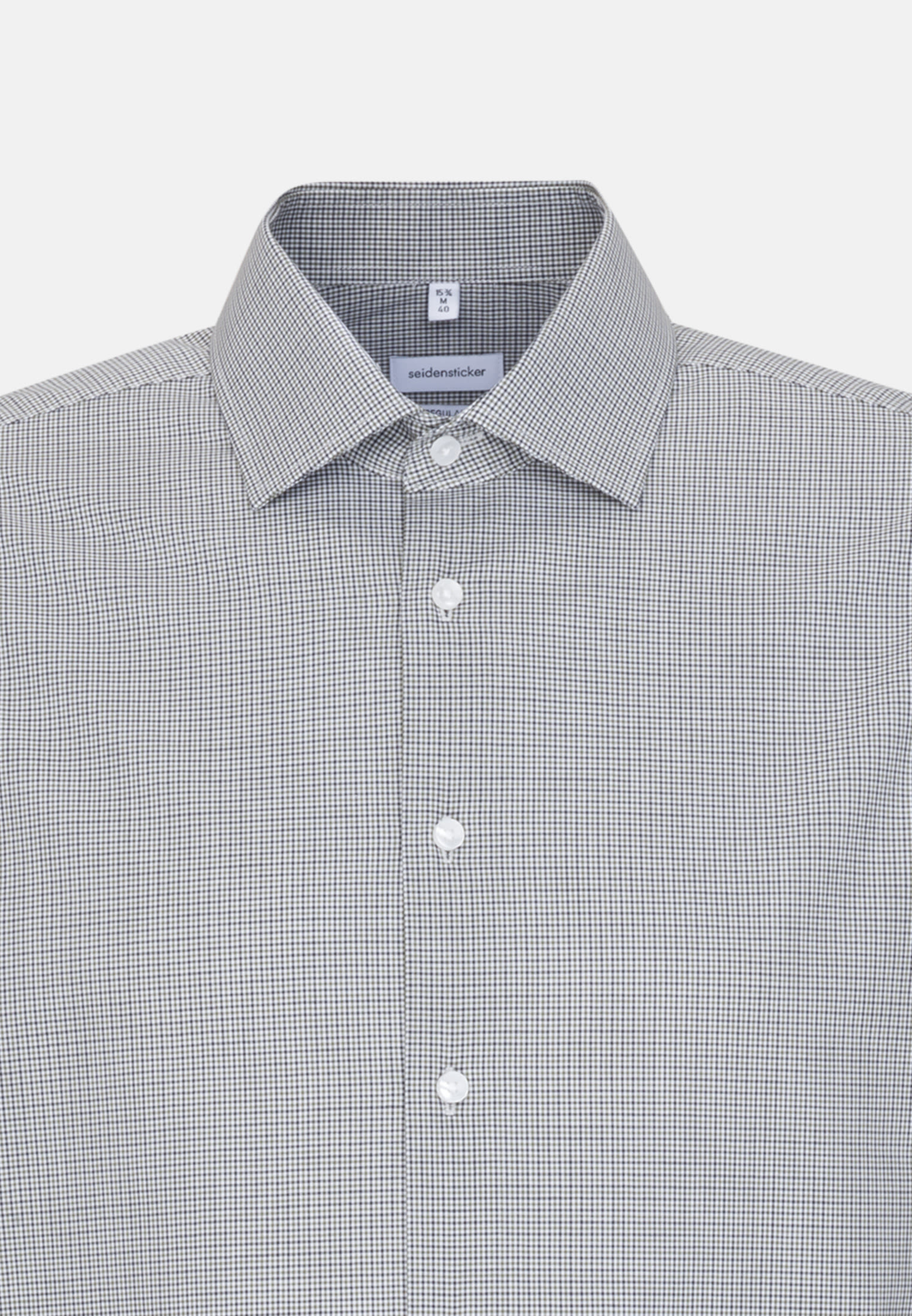 Non-iron Poplin Business Shirt in Regular with Kent-Collar and extra long sleeve in Green |  Seidensticker Onlineshop
