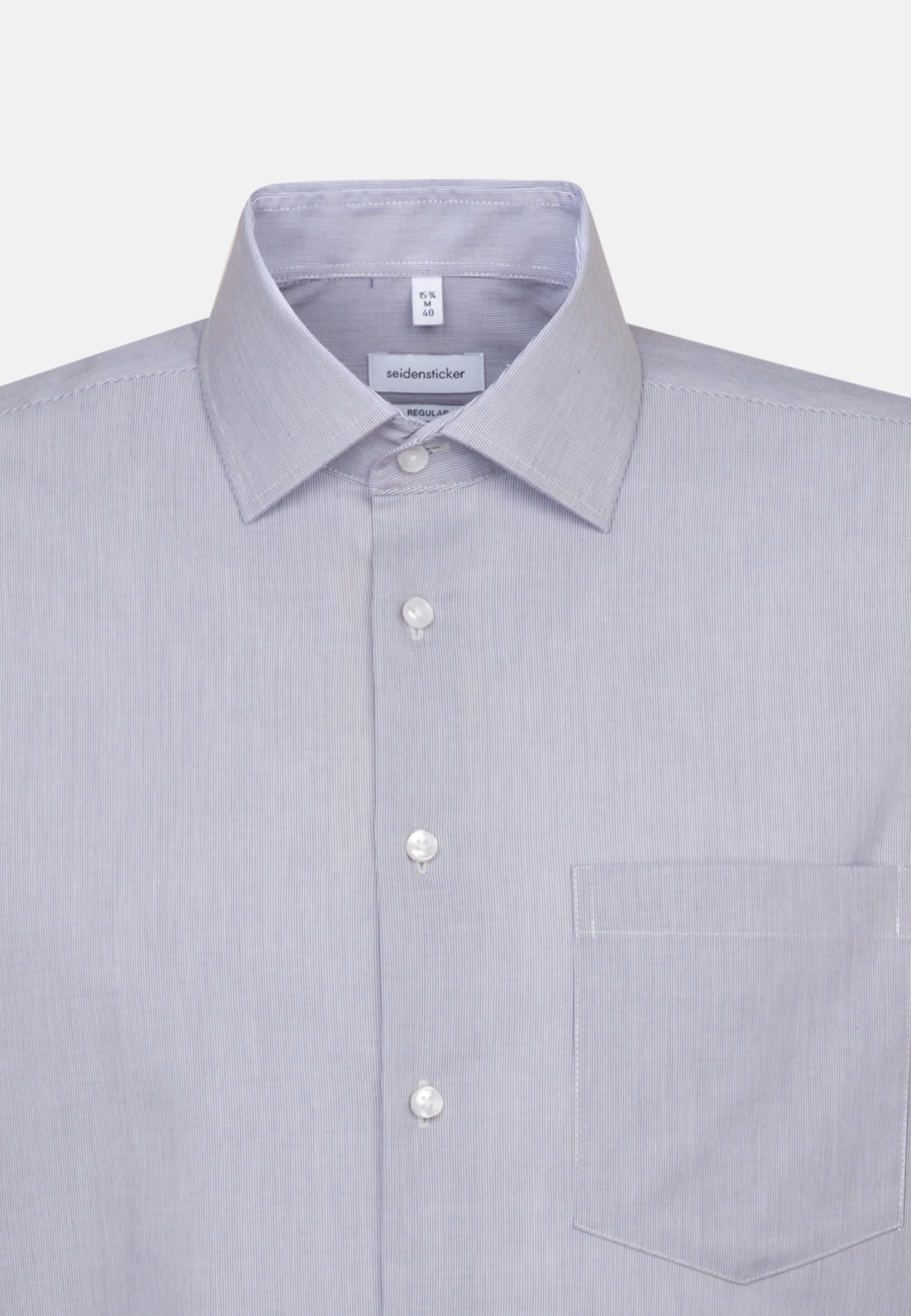 Bügelfreies Popeline Business Hemd in Regular mit Kentkragen und extra langem Arm in Lila    Seidensticker Onlineshop