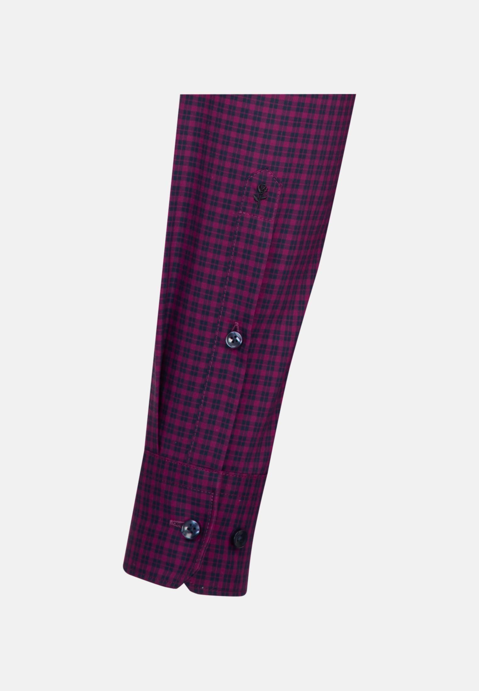 Bügelfreies Popeline Business Hemd in Shaped mit Button-Down-Kragen in Rosa/Pink |  Seidensticker Onlineshop