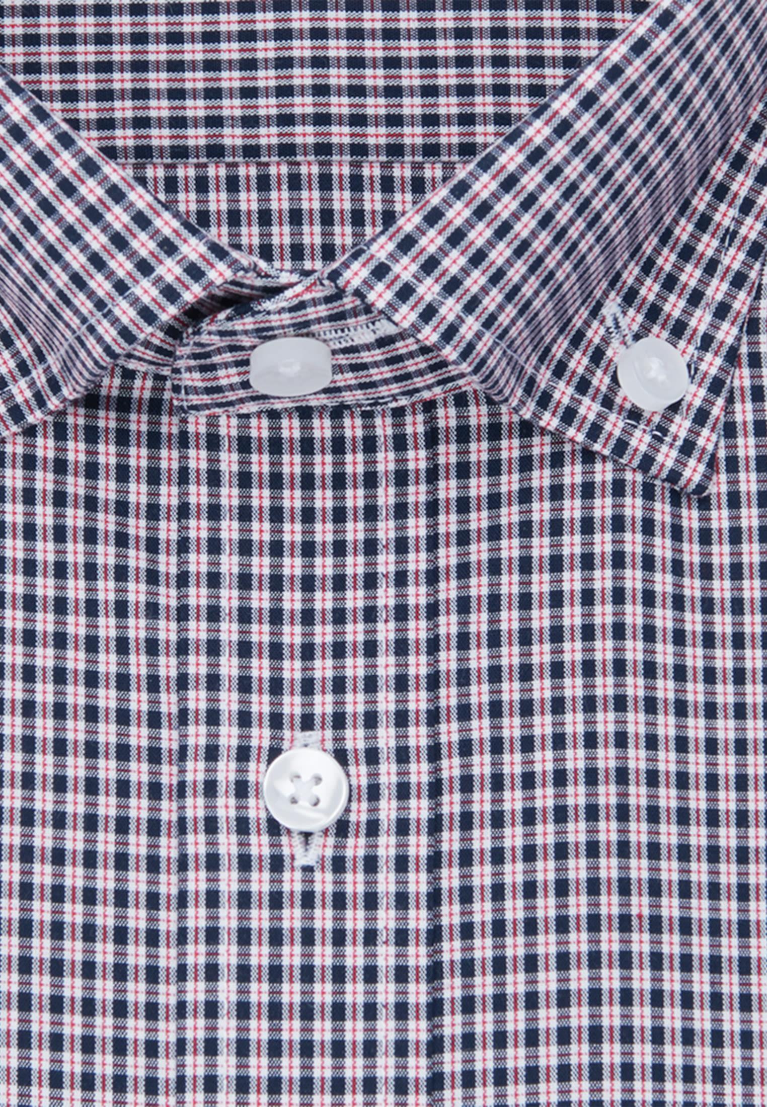 Non-iron Poplin Short sleeve Business Shirt in Comfort with Button-Down-Collar in Red |  Seidensticker Onlineshop