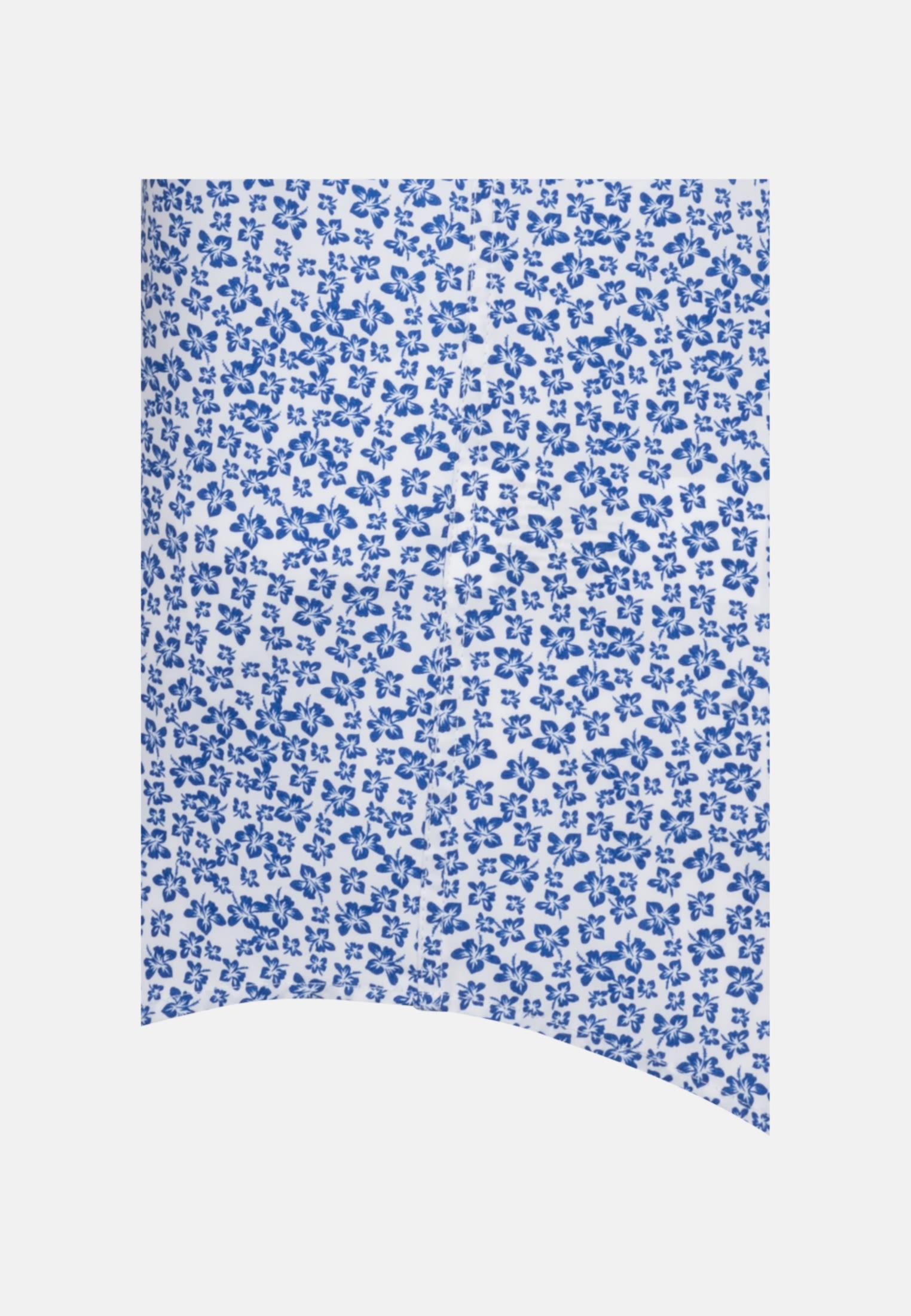 Bügelleichtes Popeline Kurzarm Business Hemd in Shaped mit Kentkragen in Mittelblau    Seidensticker Onlineshop