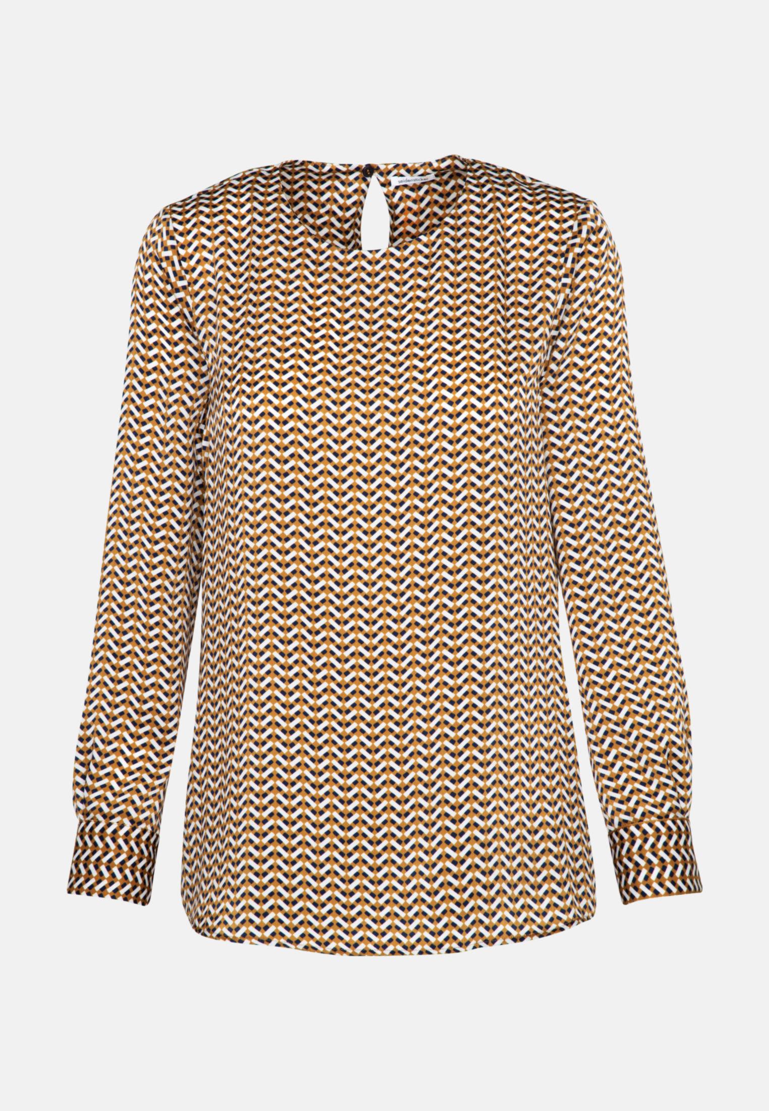 Satin Shirtbluse aus 100% Polyester in Orange |  Seidensticker Onlineshop
