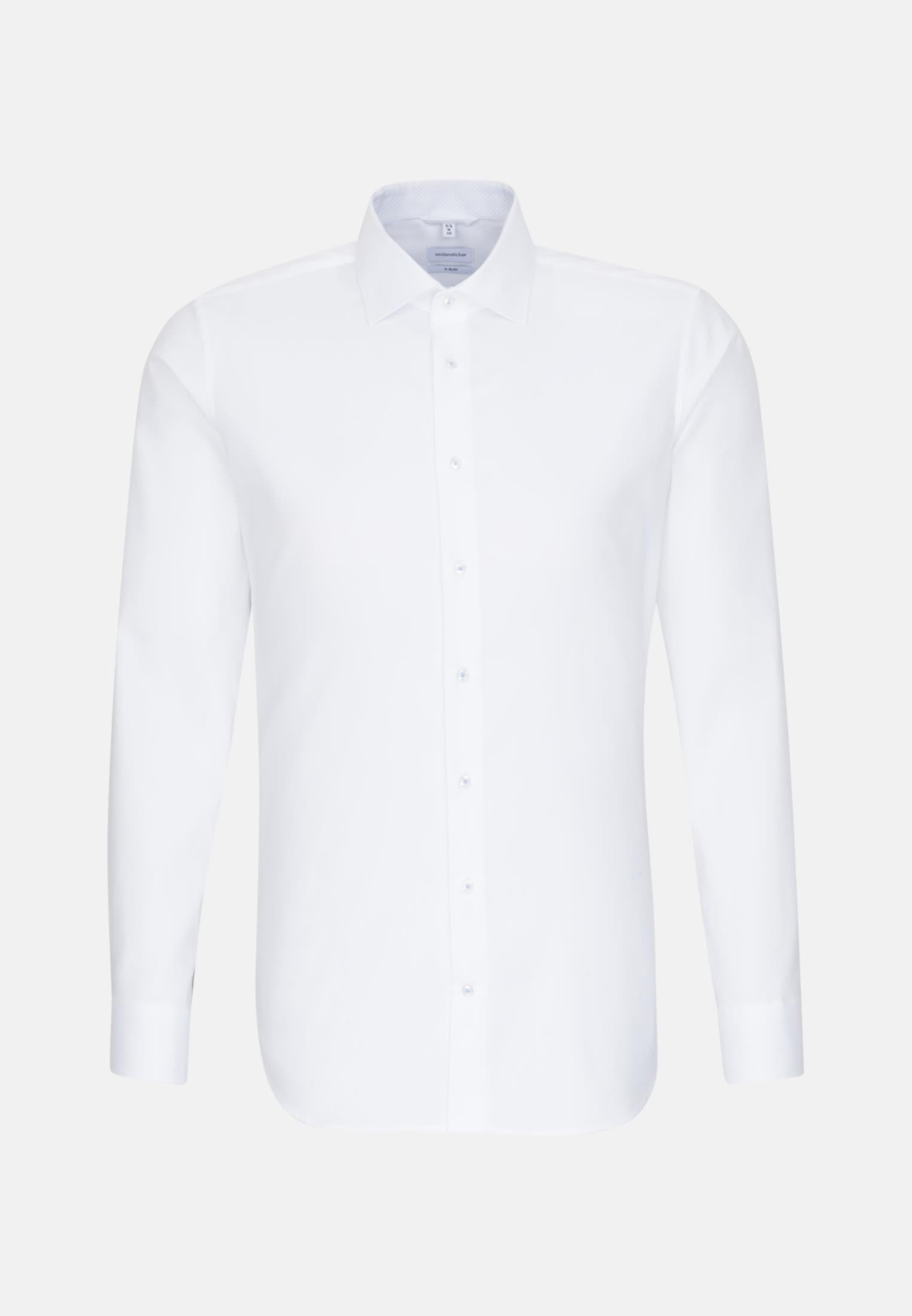 Bügelfreies Oxford Business Hemd in X-Slim mit Kentkragen in Weiß    Seidensticker Onlineshop