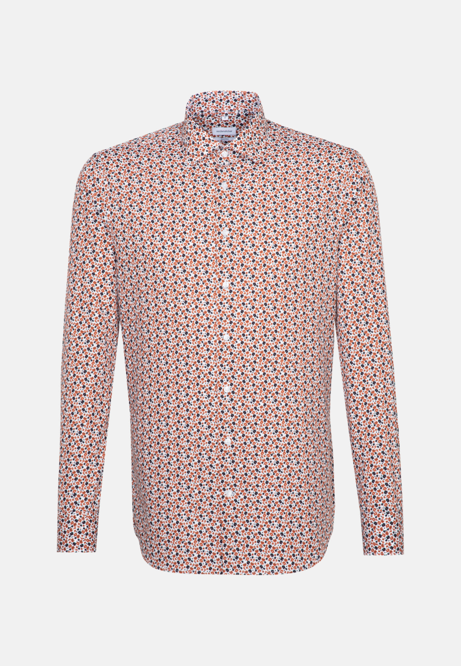 Easy-iron Poplin Business Shirt in Shaped with Kent-Collar in Orange |  Seidensticker Onlineshop