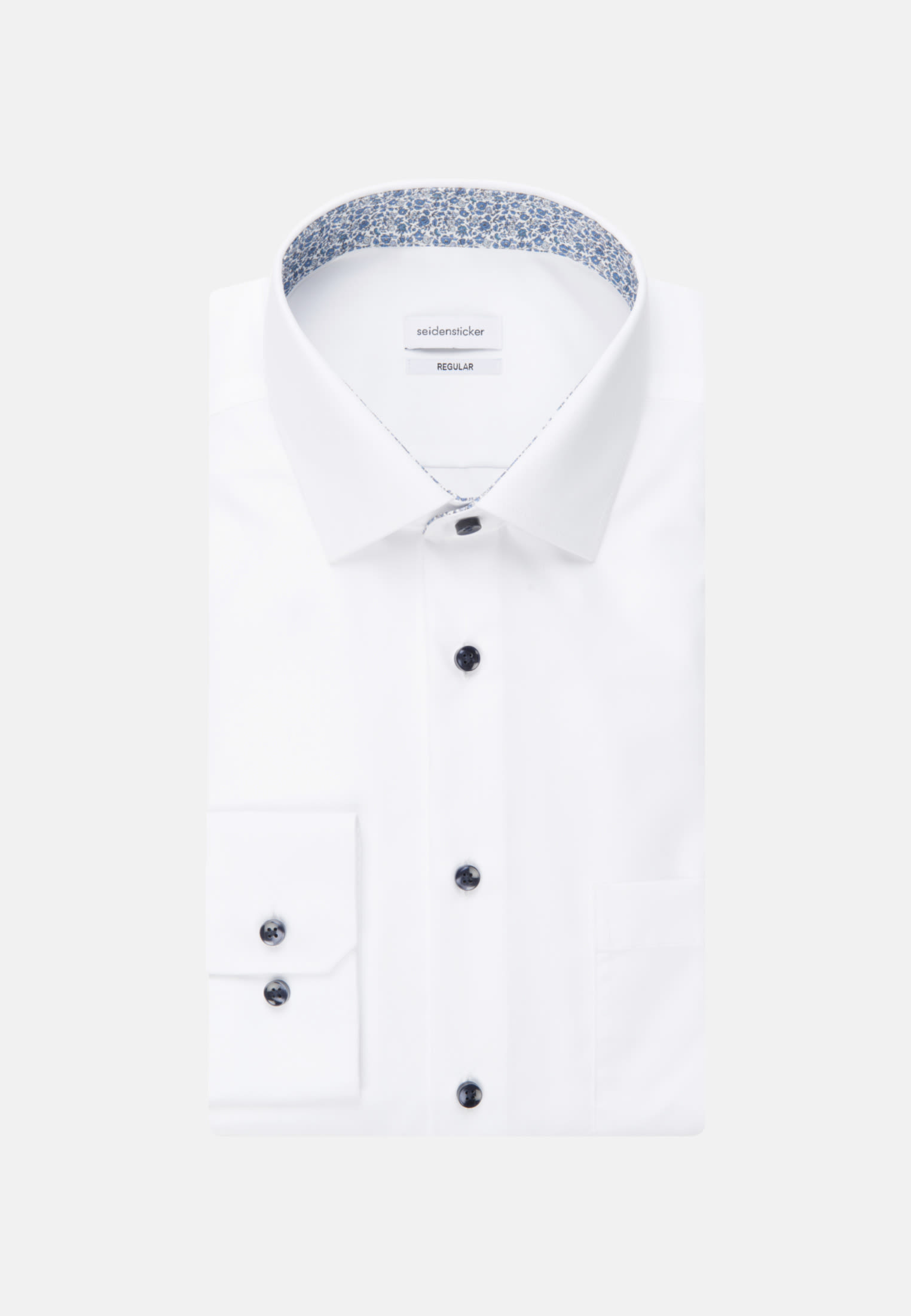 Bügelfreies Popeline Business Hemd in Regular mit Kentkragen in Weiß |  Seidensticker Onlineshop