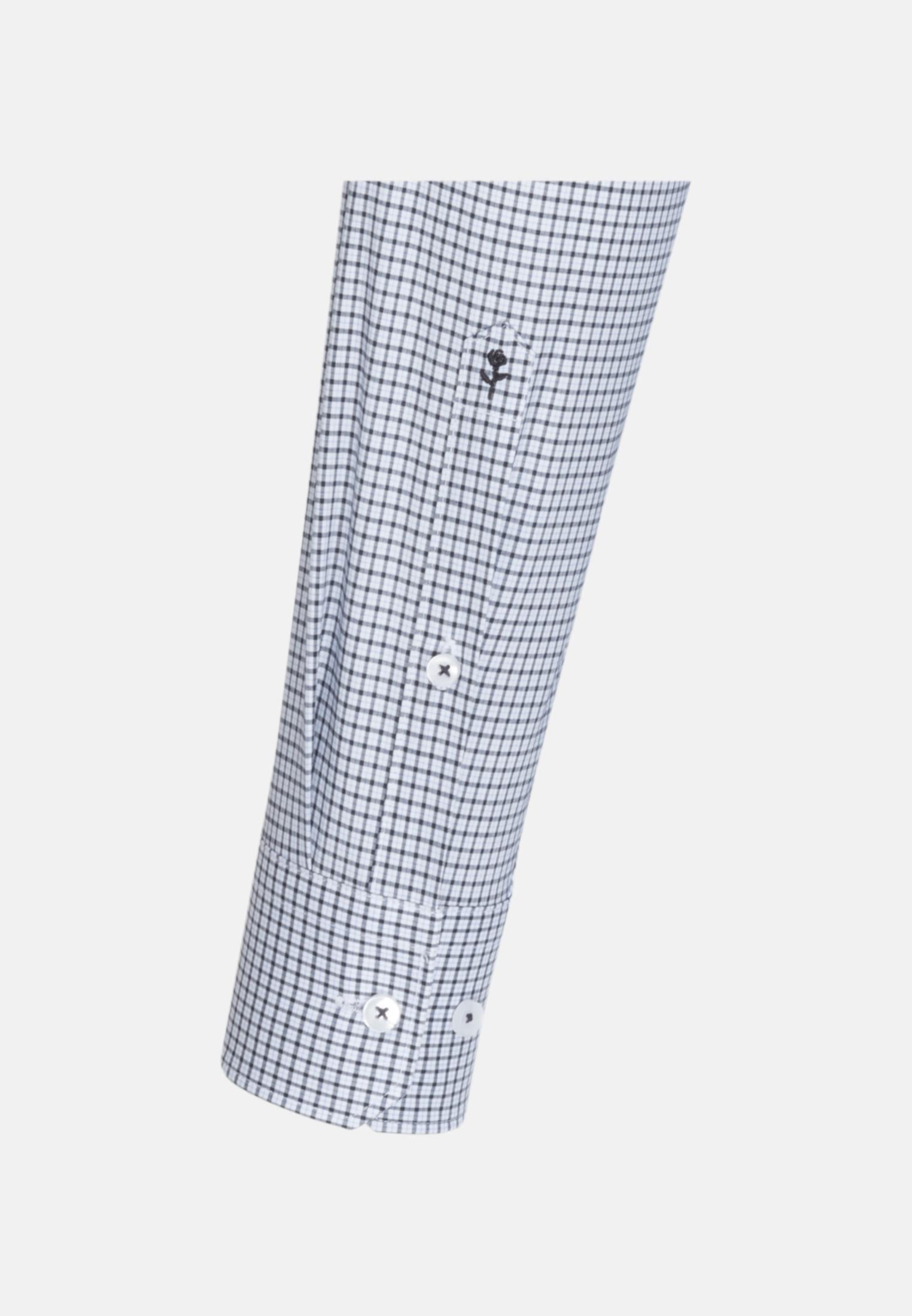 Bügelfreies Popeline Business Hemd in Regular mit Button-Down-Kragen in Dunkelblau |  Seidensticker Onlineshop