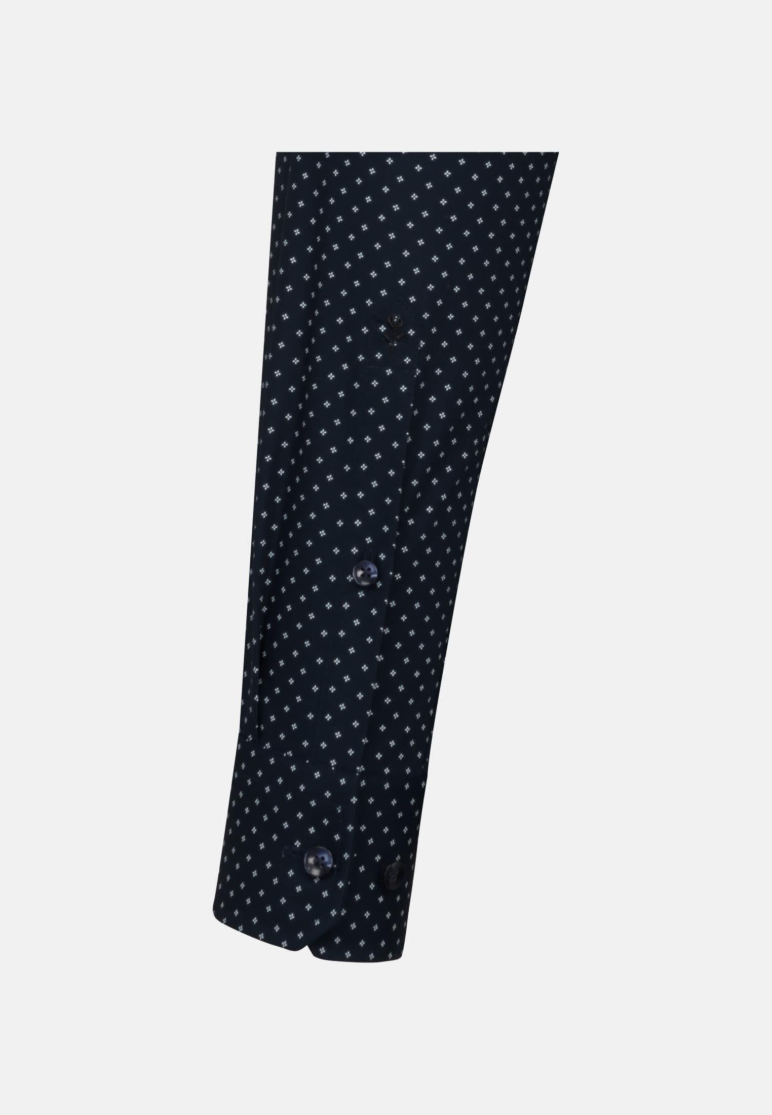 Bügelleichtes Popeline Business Hemd in Slim mit Kentkragen in Dunkelblau |  Seidensticker Onlineshop
