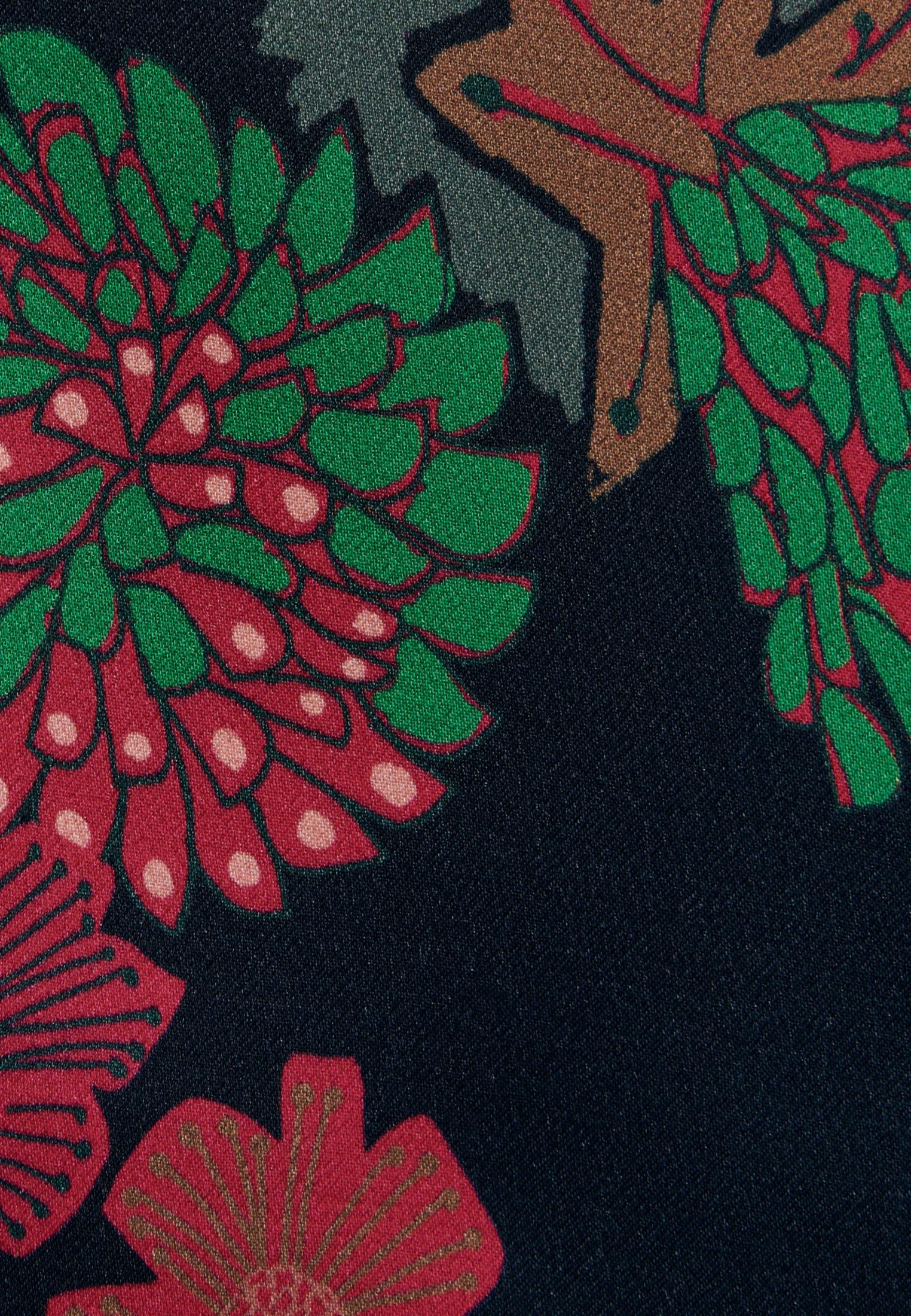 Satin Hemdbluse aus 100% Viskose in Dunkelblau |  Seidensticker Onlineshop