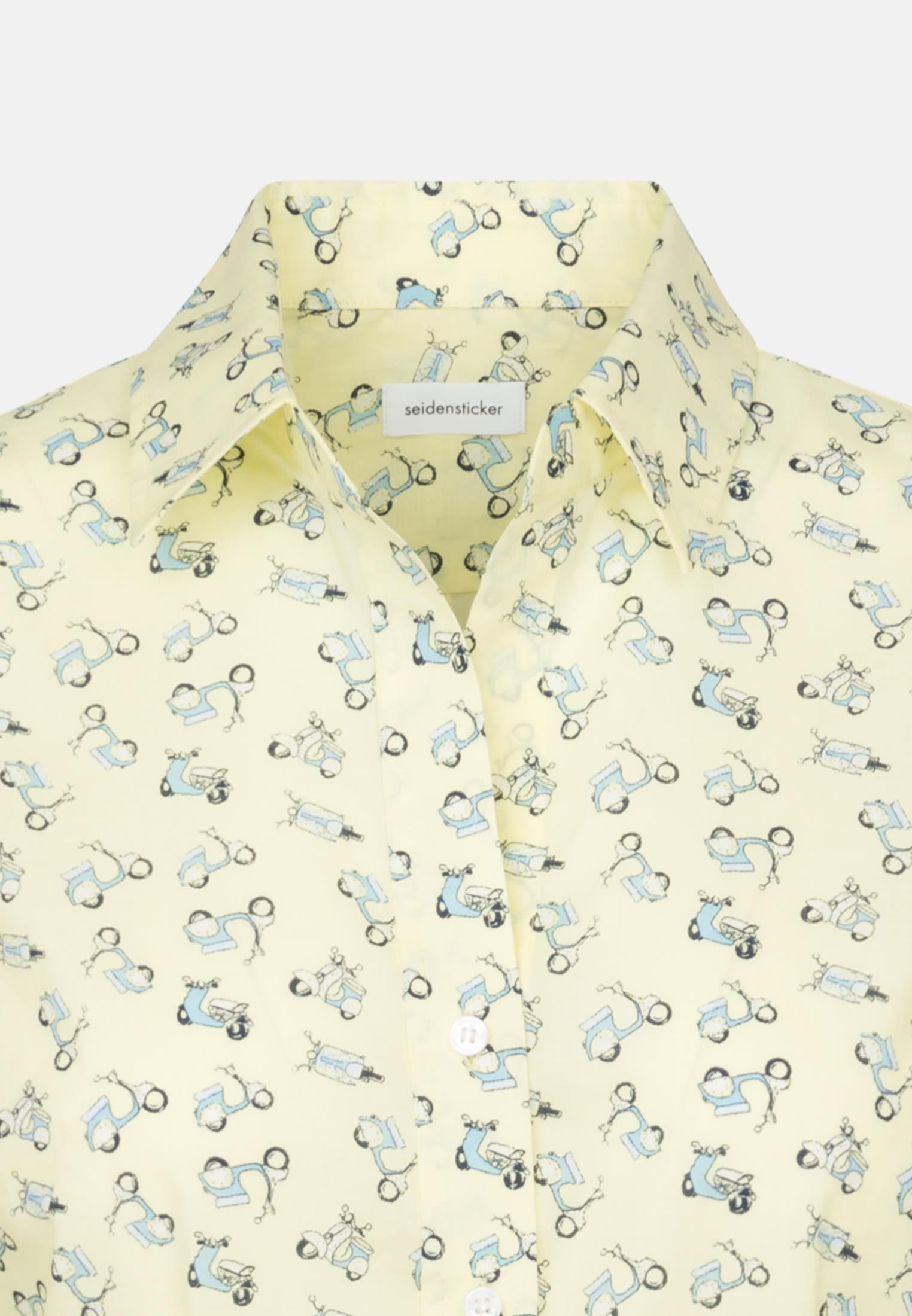 Popeline Hemdbluse aus 100% Baumwolle in Gelb |  Seidensticker Onlineshop