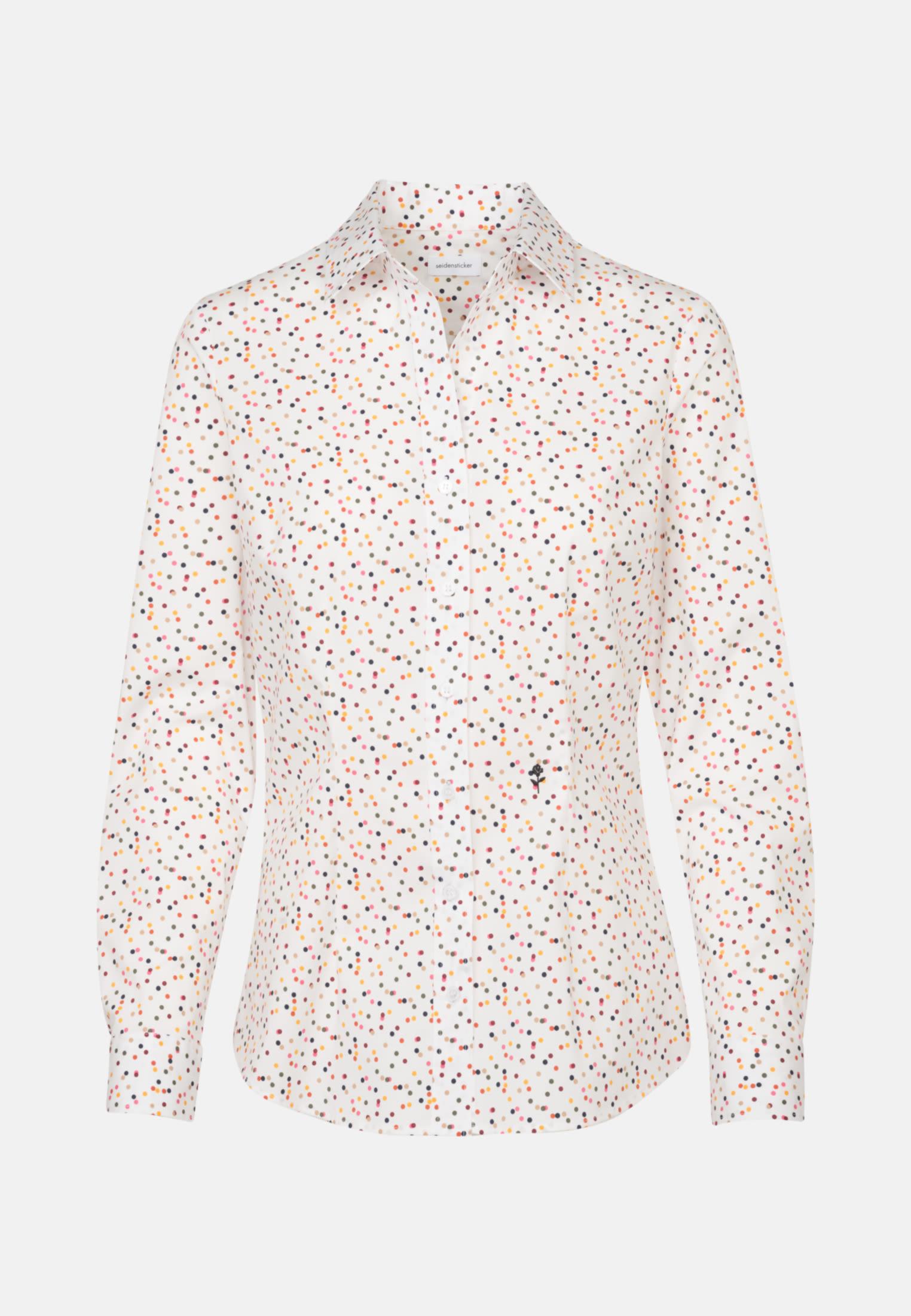 Poplin Shirt Blouse made of cotton blend in Ecru |  Seidensticker Onlineshop