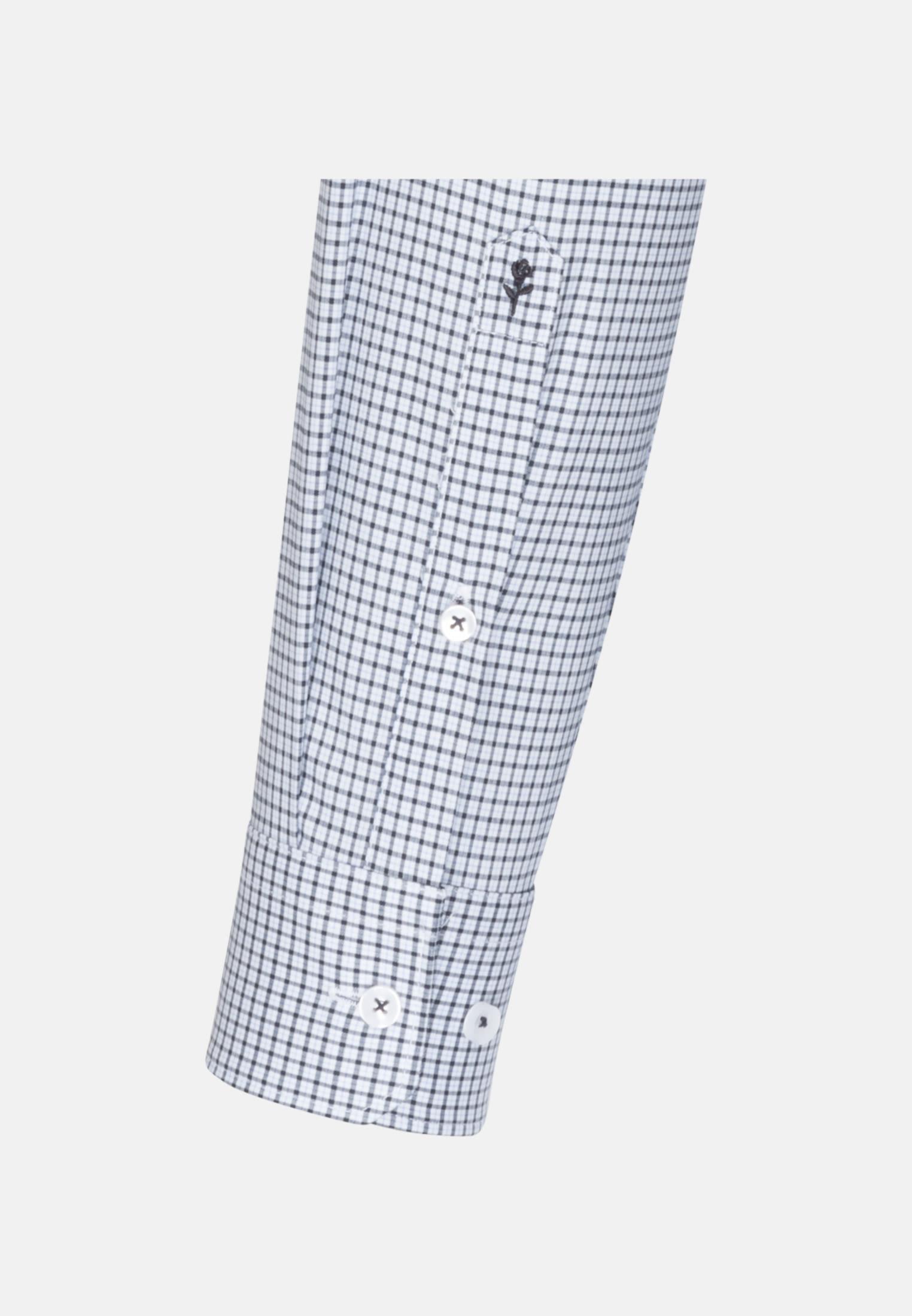 Bügelfreies Popeline Business Hemd in Slim mit Button-Down-Kragen in Dunkelblau |  Seidensticker Onlineshop