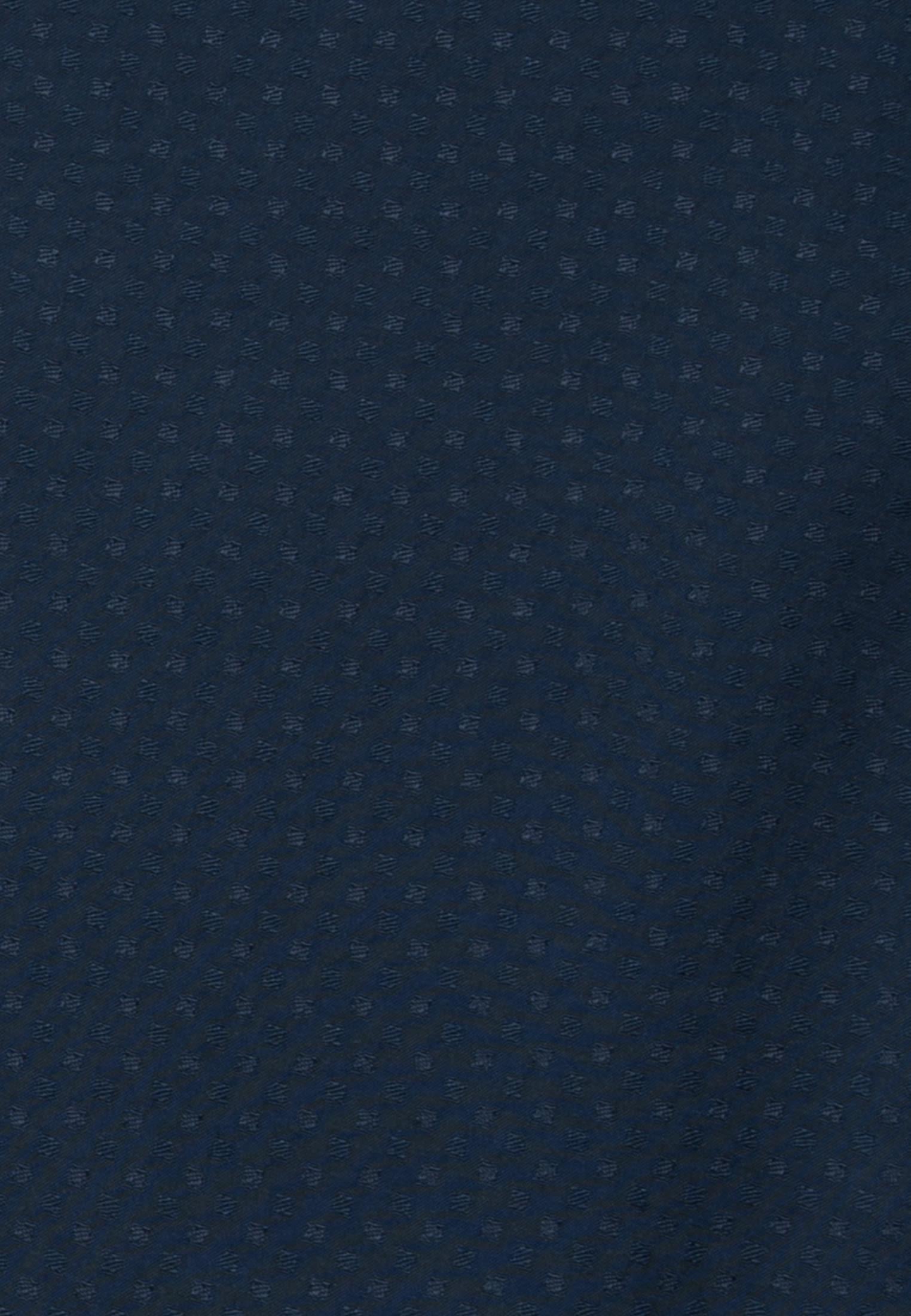 Jacquard Hemdbluse aus 100% Viskose in Dunkelblau |  Seidensticker Onlineshop