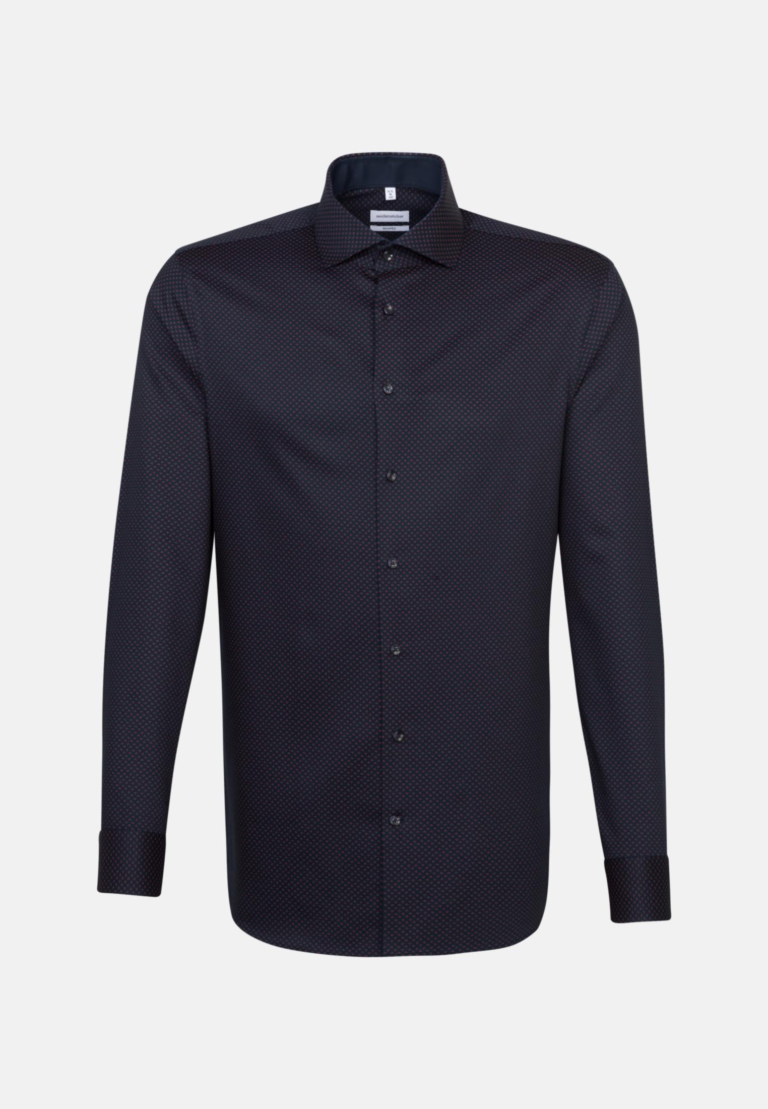 Bügelleichtes Twill Business Hemd in Shaped mit Kentkragen in Rot |  Seidensticker Onlineshop