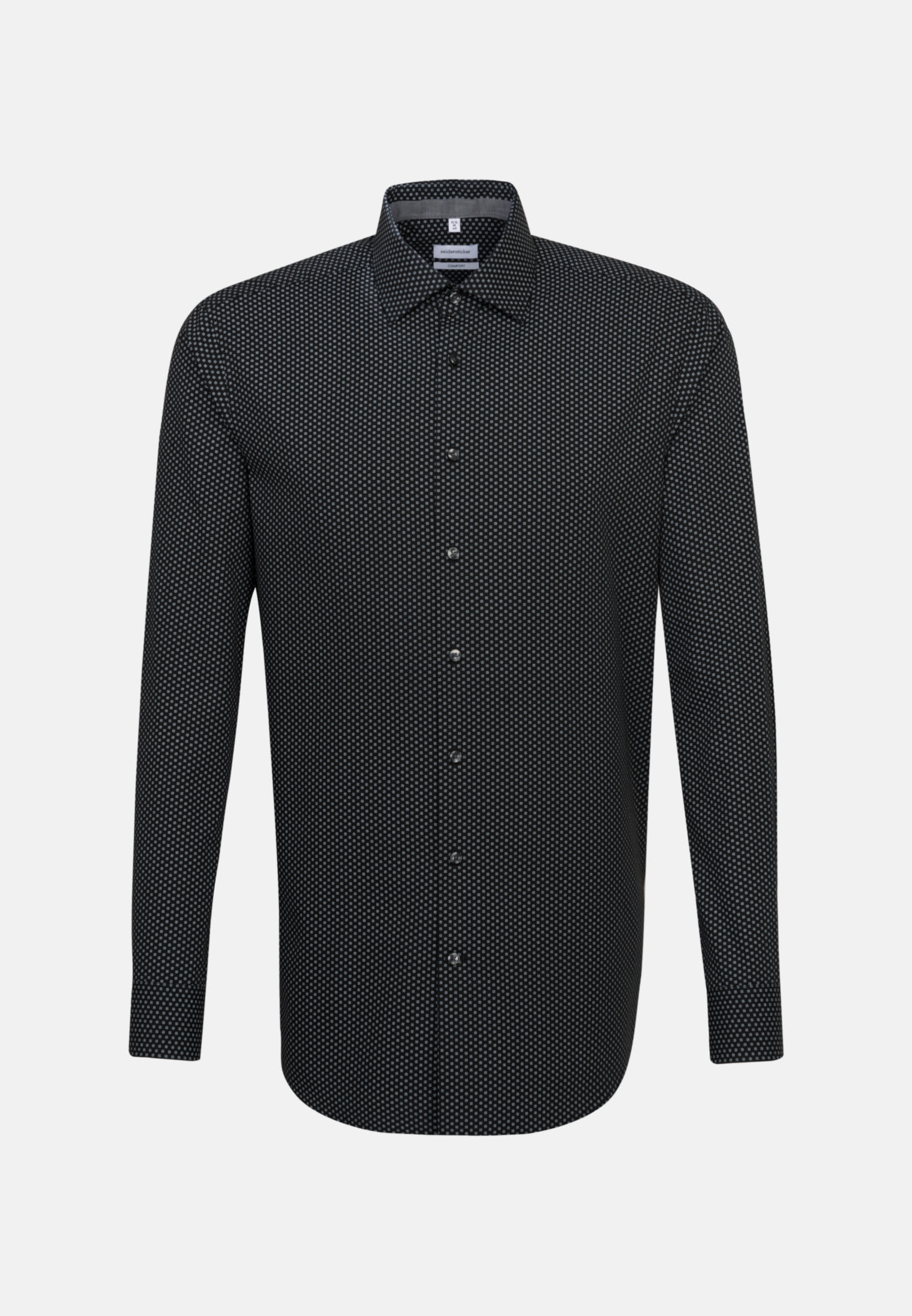 Easy-iron Poplin Business Shirt in Comfort with Kent-Collar in Black |  Seidensticker Onlineshop