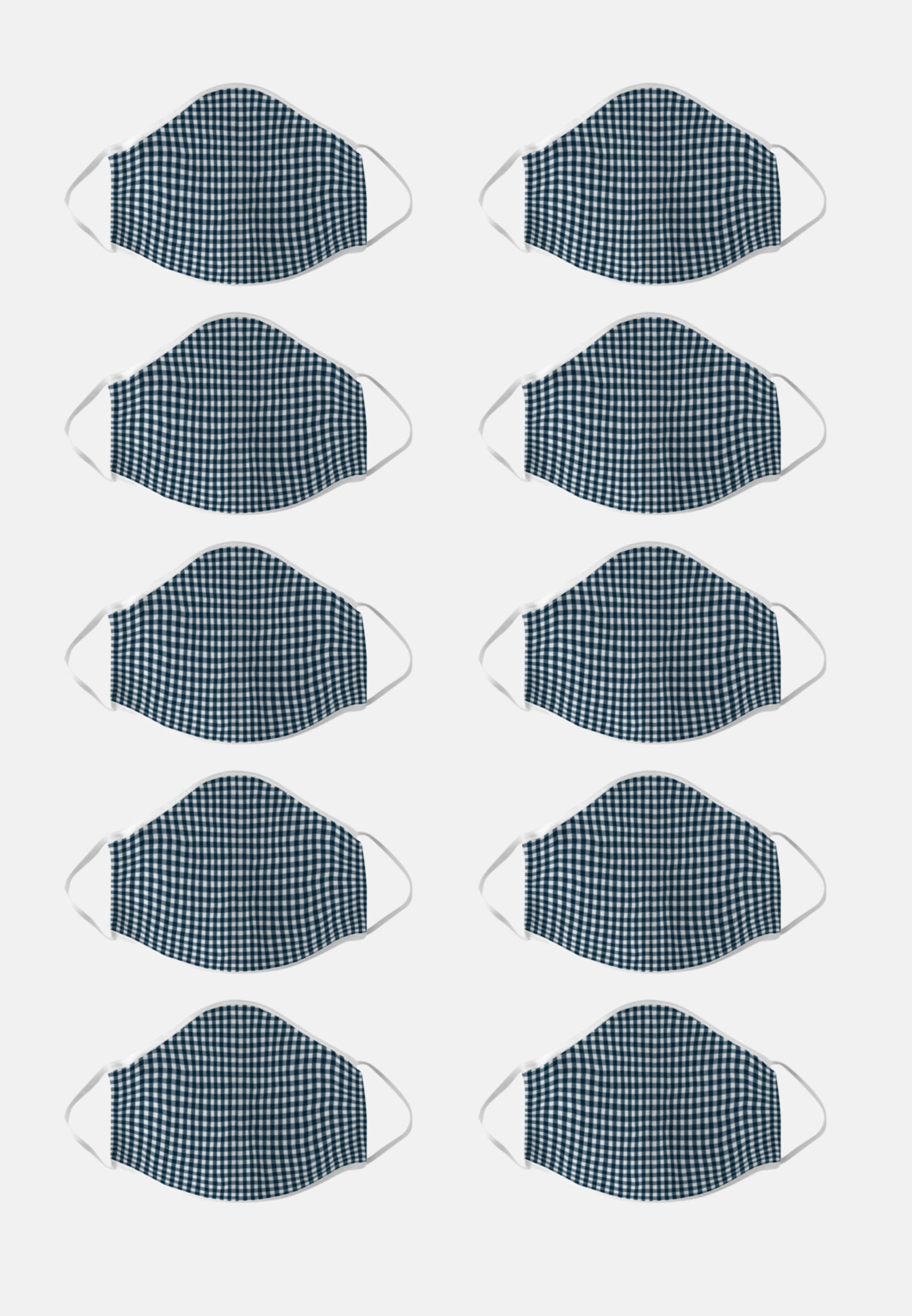 10er-Pack Mund-Nasen-Masken aus 100% Baumwolle in Dunkelblau    Seidensticker Onlineshop