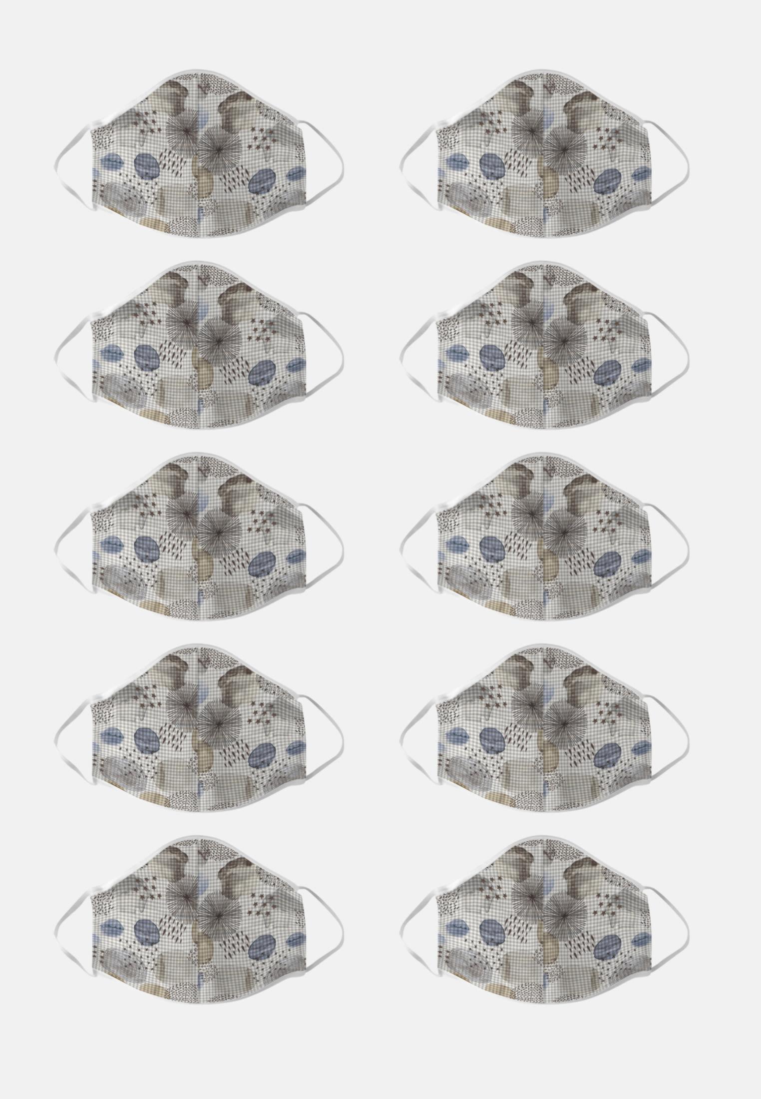 10er-Pack Mund-Nasen-Masken aus 100% Baumwolle in Grau |  Seidensticker Onlineshop