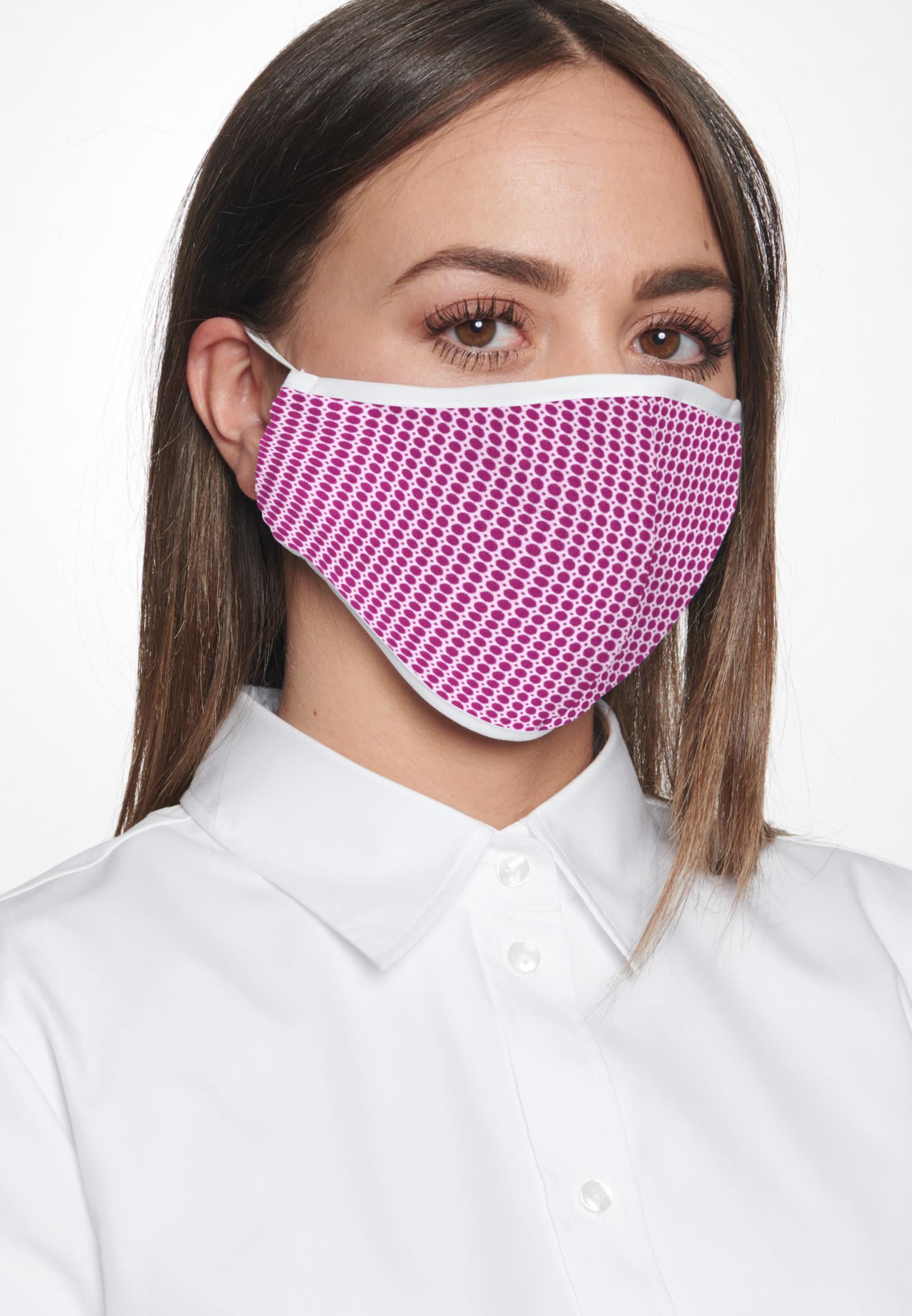 10er-Pack Mund-Nasen-Masken aus 100% Baumwolle in Rot |  Seidensticker Onlineshop
