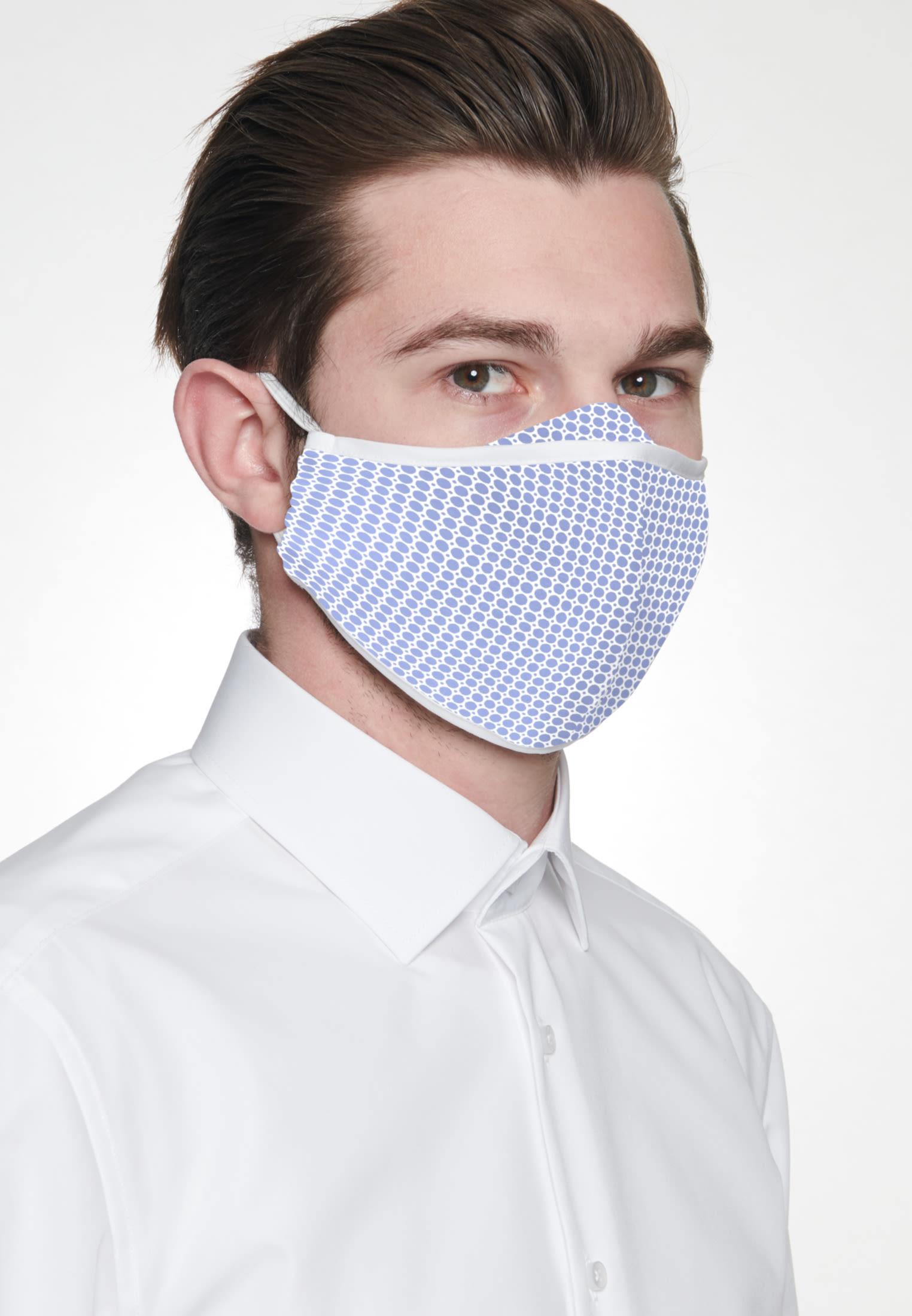 10er-Pack Mund-Nasen-Masken aus in Hellblau    Seidensticker Onlineshop