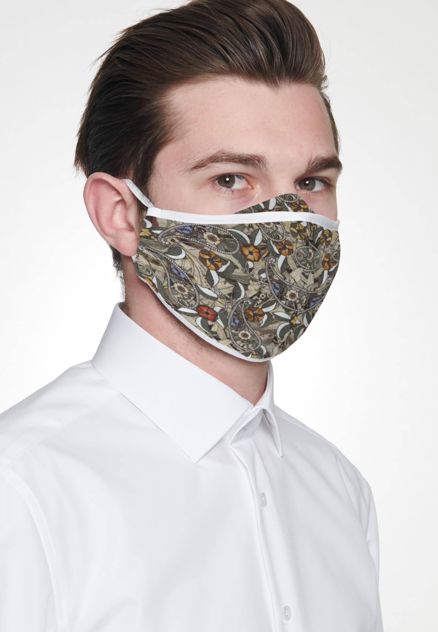 10er-Pack Mund-Nasen-Masken aus 100% Baumwolle in Braun |  Seidensticker Onlineshop