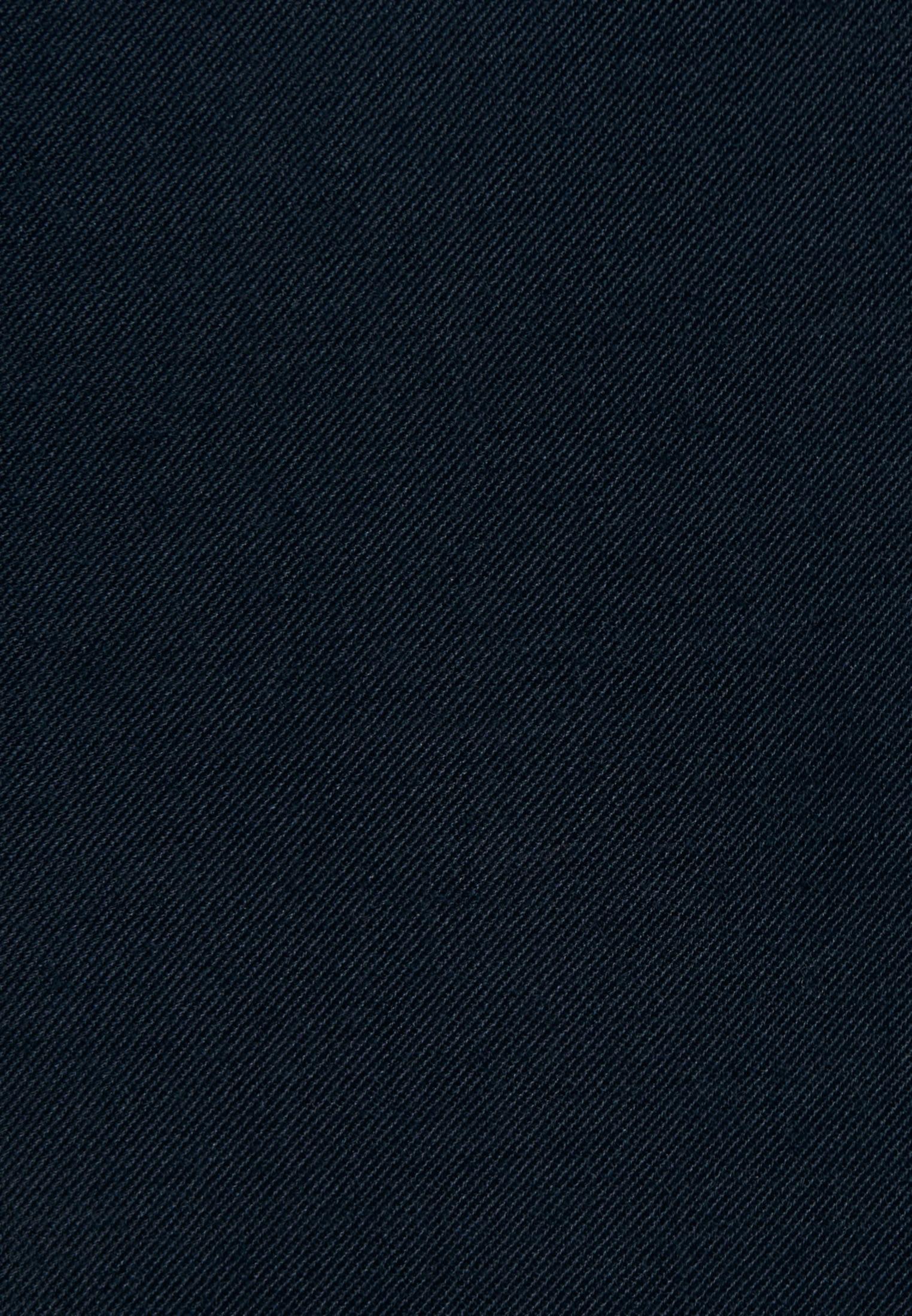 Gabardine Longbluse aus Wollmischung in Dunkelblau |  Seidensticker Onlineshop