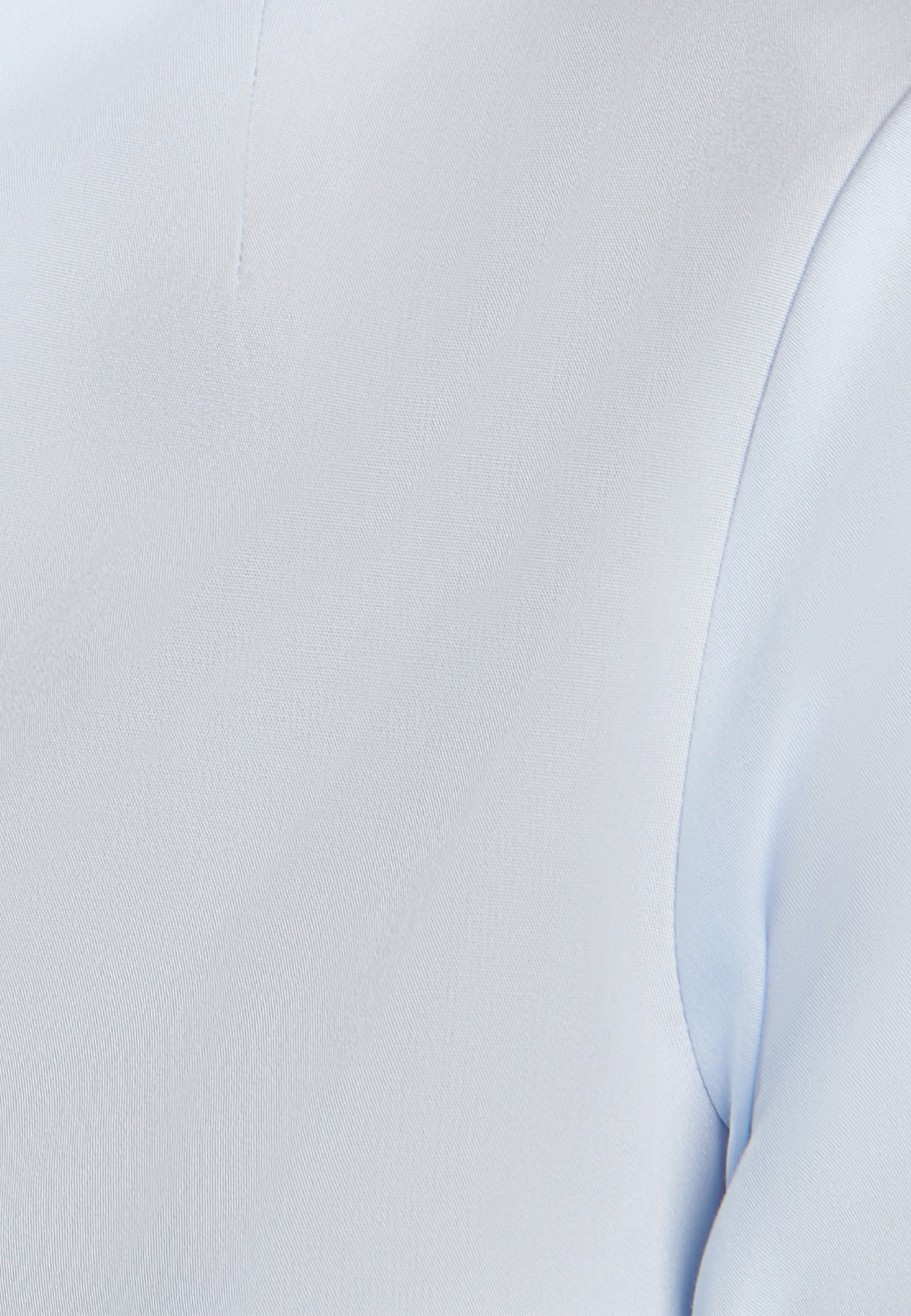 Bügelfreie Popeline Kelchkragenbluse aus 100% Baumwolle in Hellblau |  Seidensticker Onlineshop