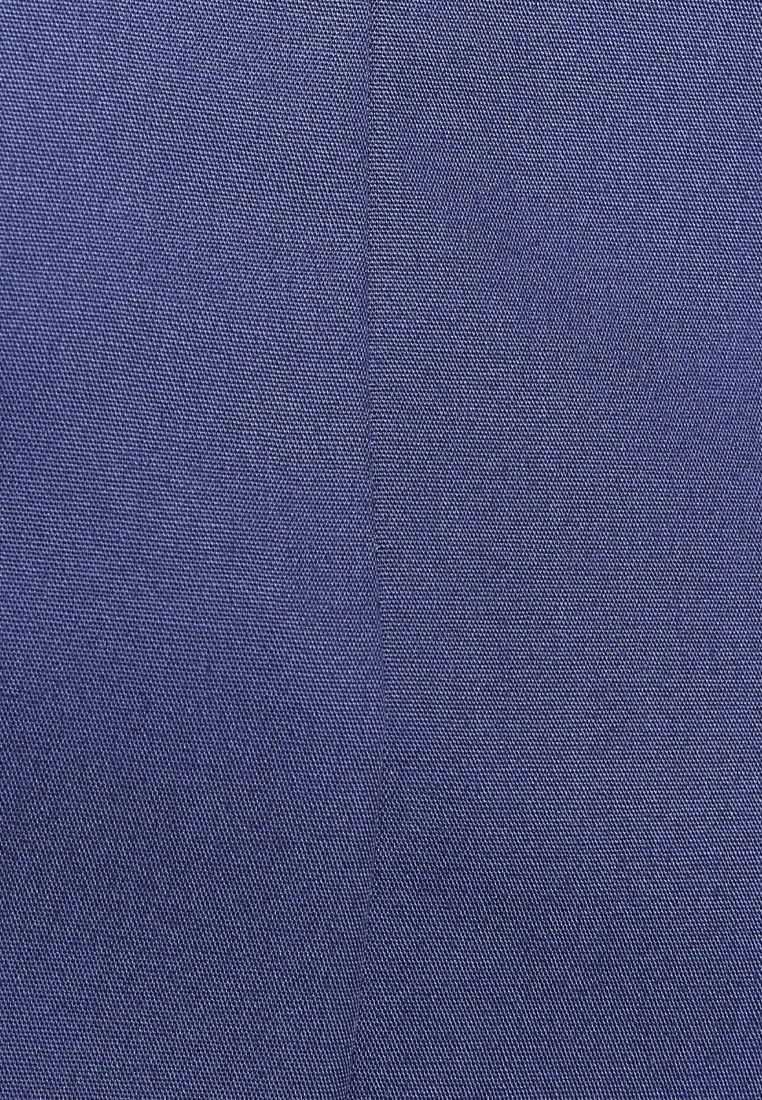 Bügelfreie Popeline Kelchkragenbluse aus 100% Baumwolle in Dunkelblau |  Seidensticker Onlineshop