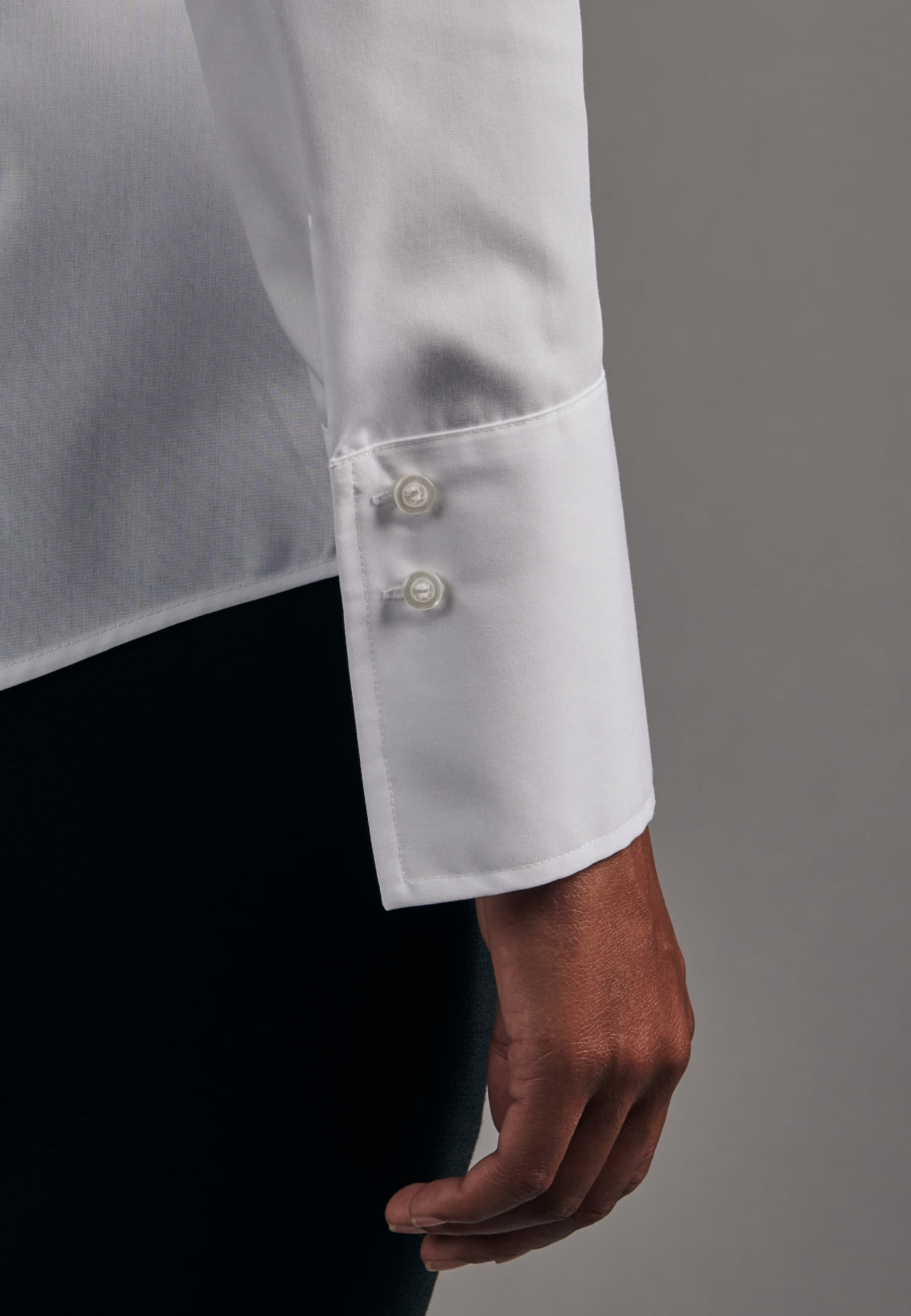 Non-iron Poplin Chalice Blouse made of 100% Cotton in White |  Seidensticker Onlineshop