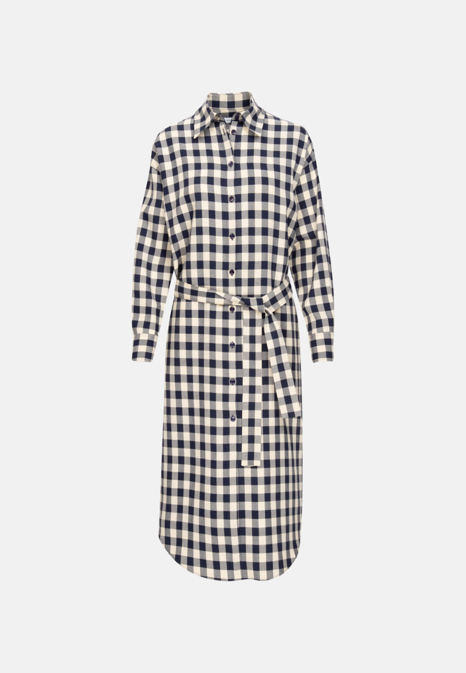 Twill Maxi Kleid aus 100% Viskose in Dunkelblau |  Seidensticker Onlineshop