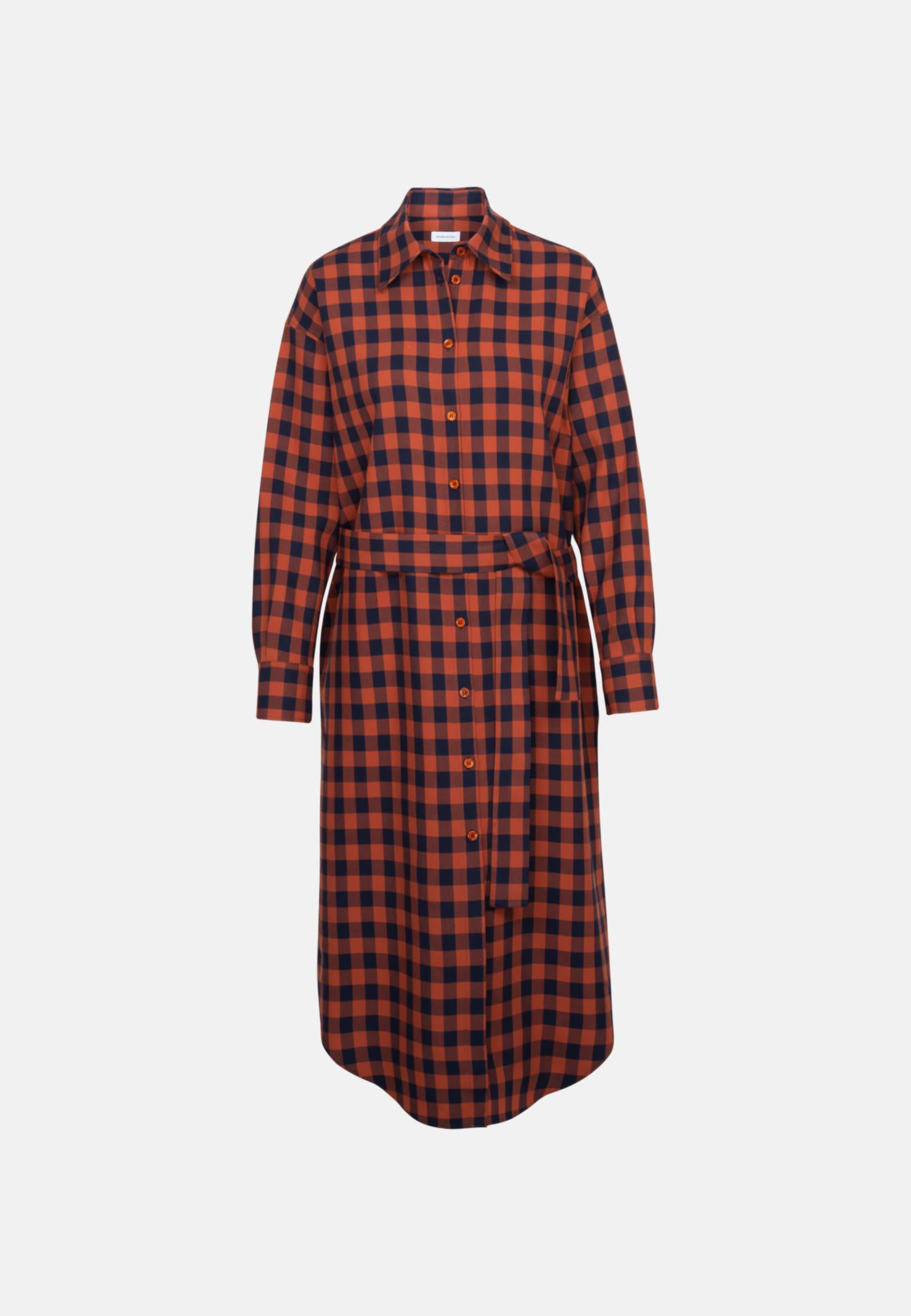 Twill Maxi Kleid aus 100% Viskose in Orange |  Seidensticker Onlineshop