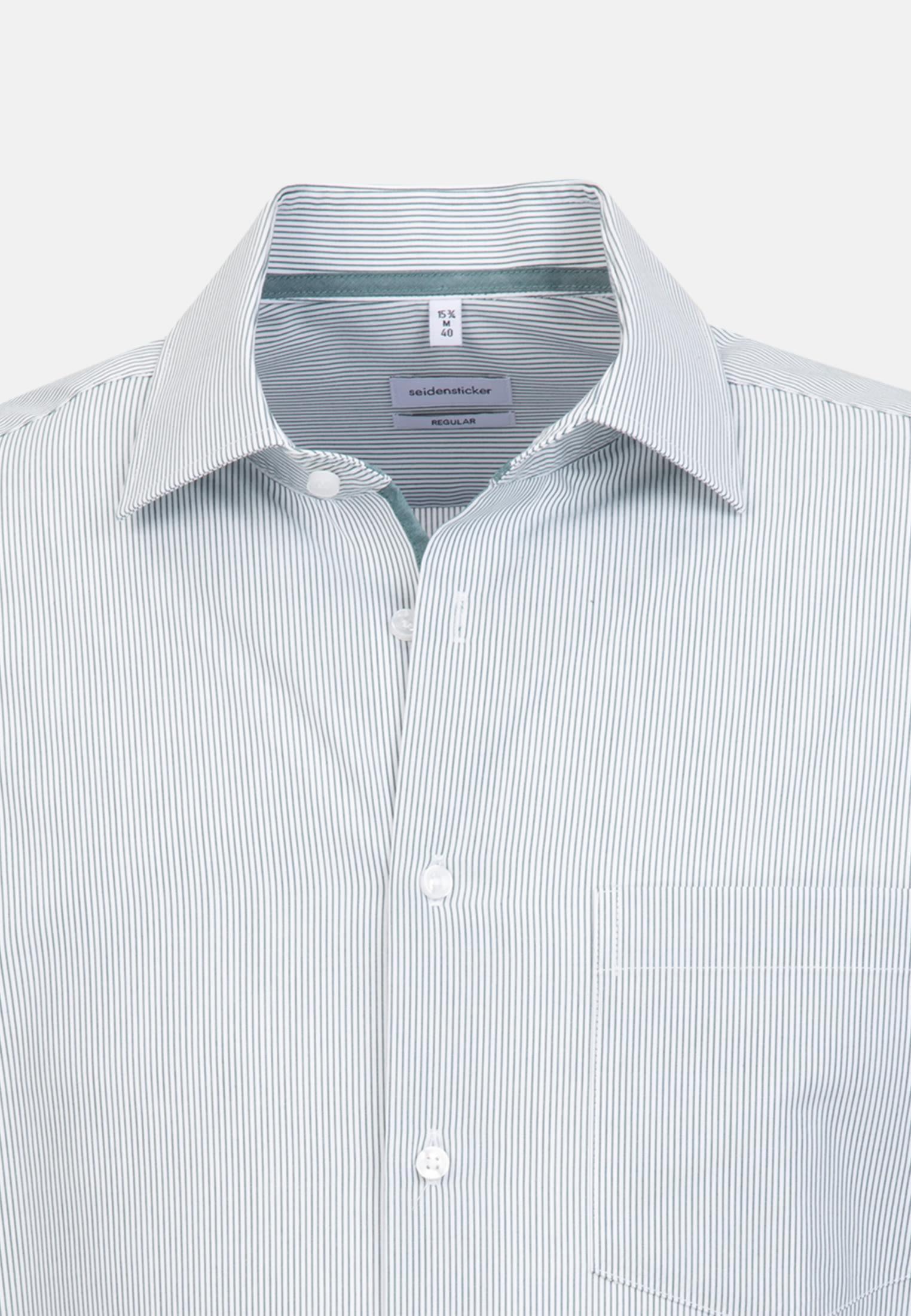 Non-iron Poplin Business Shirt in Regular with Kent-Collar in Green |  Seidensticker Onlineshop