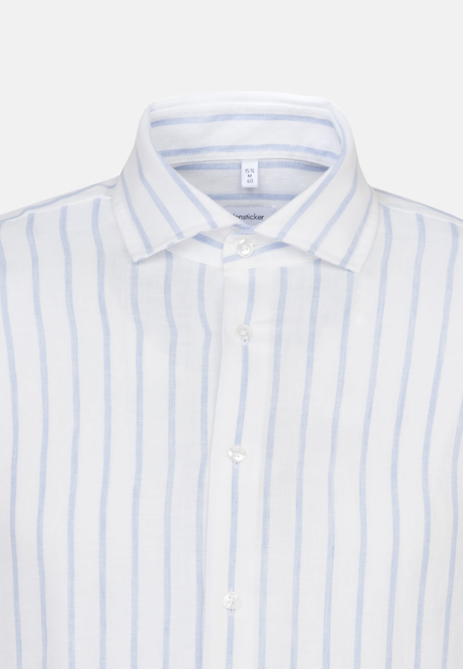 Easy-iron Linen Business Shirt in Shaped with Kent-Collar in Light blue |  Seidensticker Onlineshop