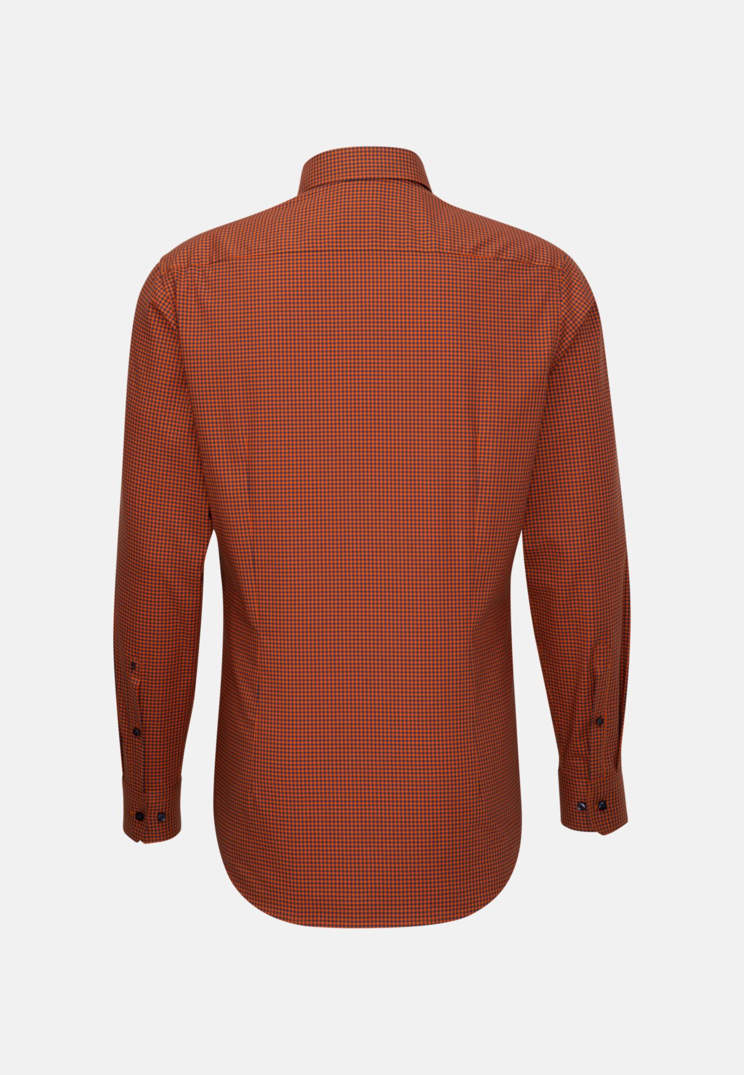 Bügelfreies Popeline Business Hemd in Slim mit Button-Down-Kragen in Orange |  Seidensticker Onlineshop