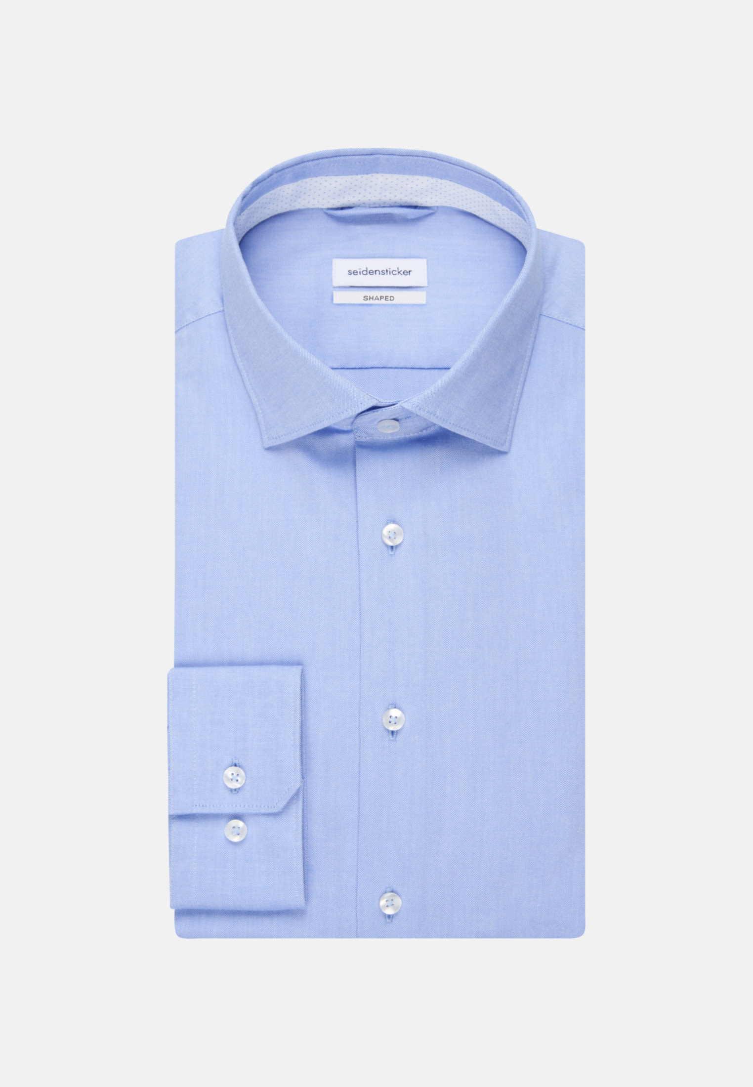 Non-iron Oxford Business Shirt in Shaped with Kent-Collar in Light blue    Seidensticker Onlineshop