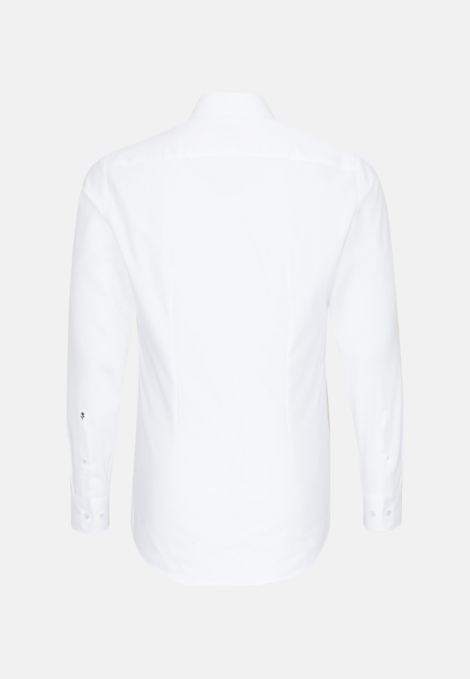 Bügelfreies Oxford Business Hemd in Shaped mit Kentkragen in Weiß |  Seidensticker Onlineshop