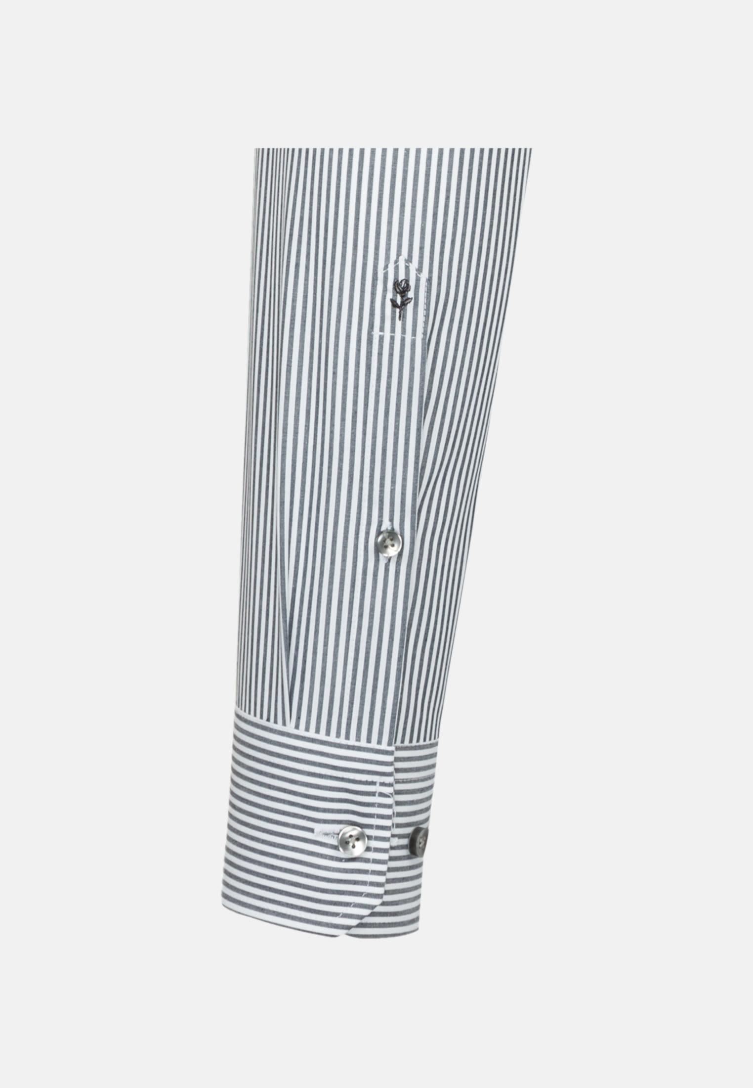 Non-iron Poplin Business Shirt in X-Slim with Kent-Collar in Dark blue |  Seidensticker Onlineshop