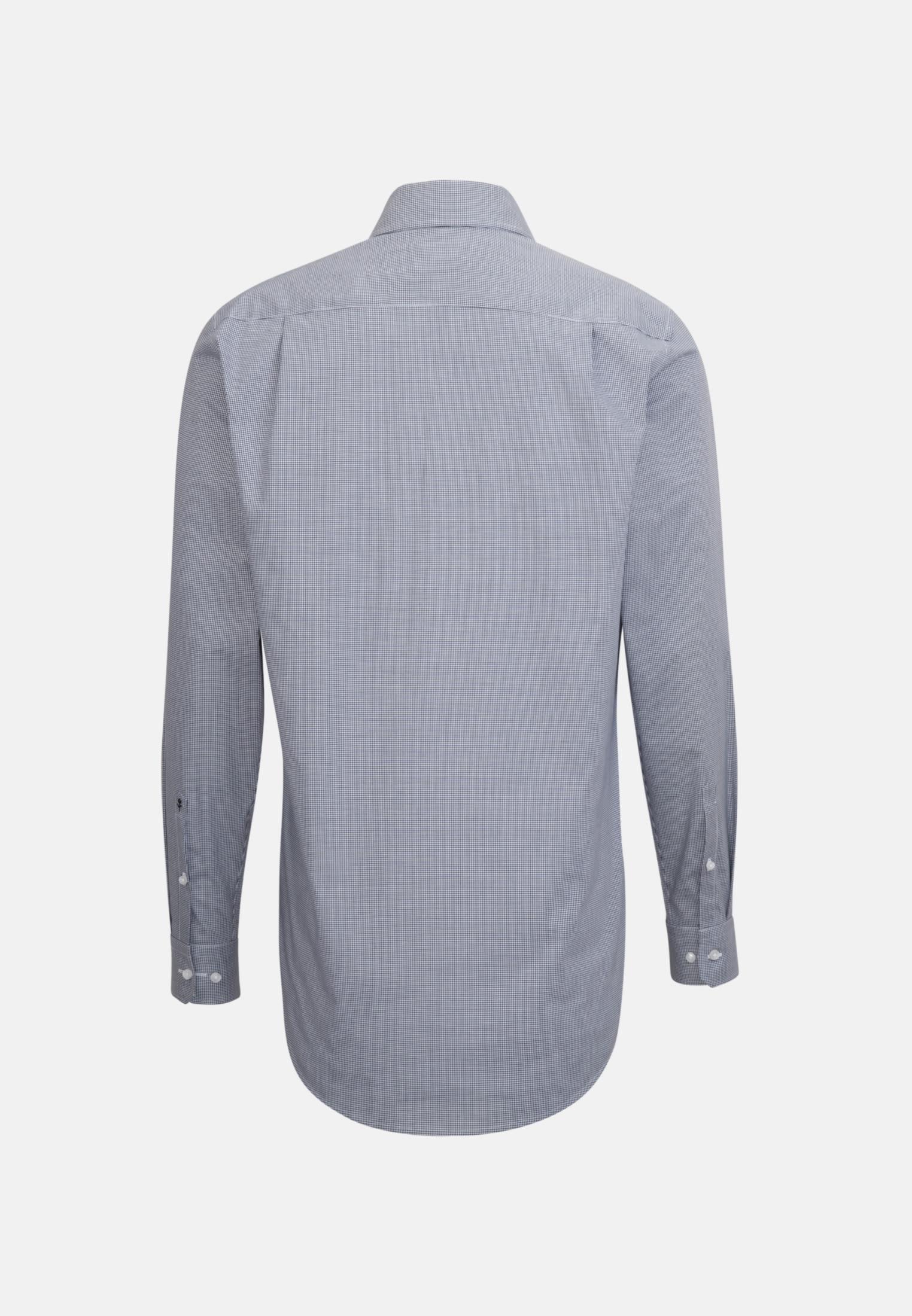Non-iron Poplin Business Shirt in Regular with Kent-Collar and extra long sleeve in Dark blue |  Seidensticker Onlineshop