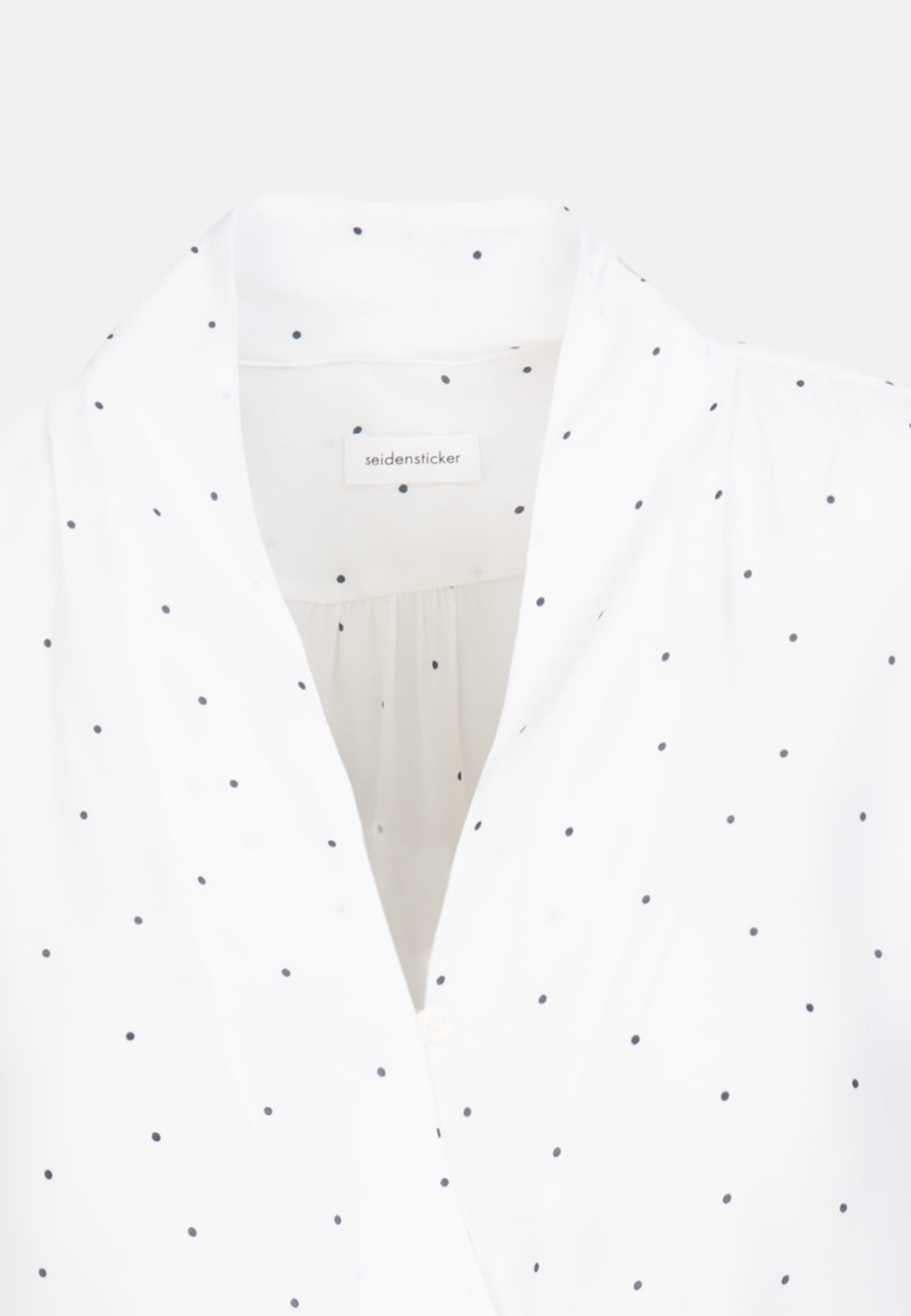Voile Wraparound Blouse made of 100% Viscose in White |  Seidensticker Onlineshop