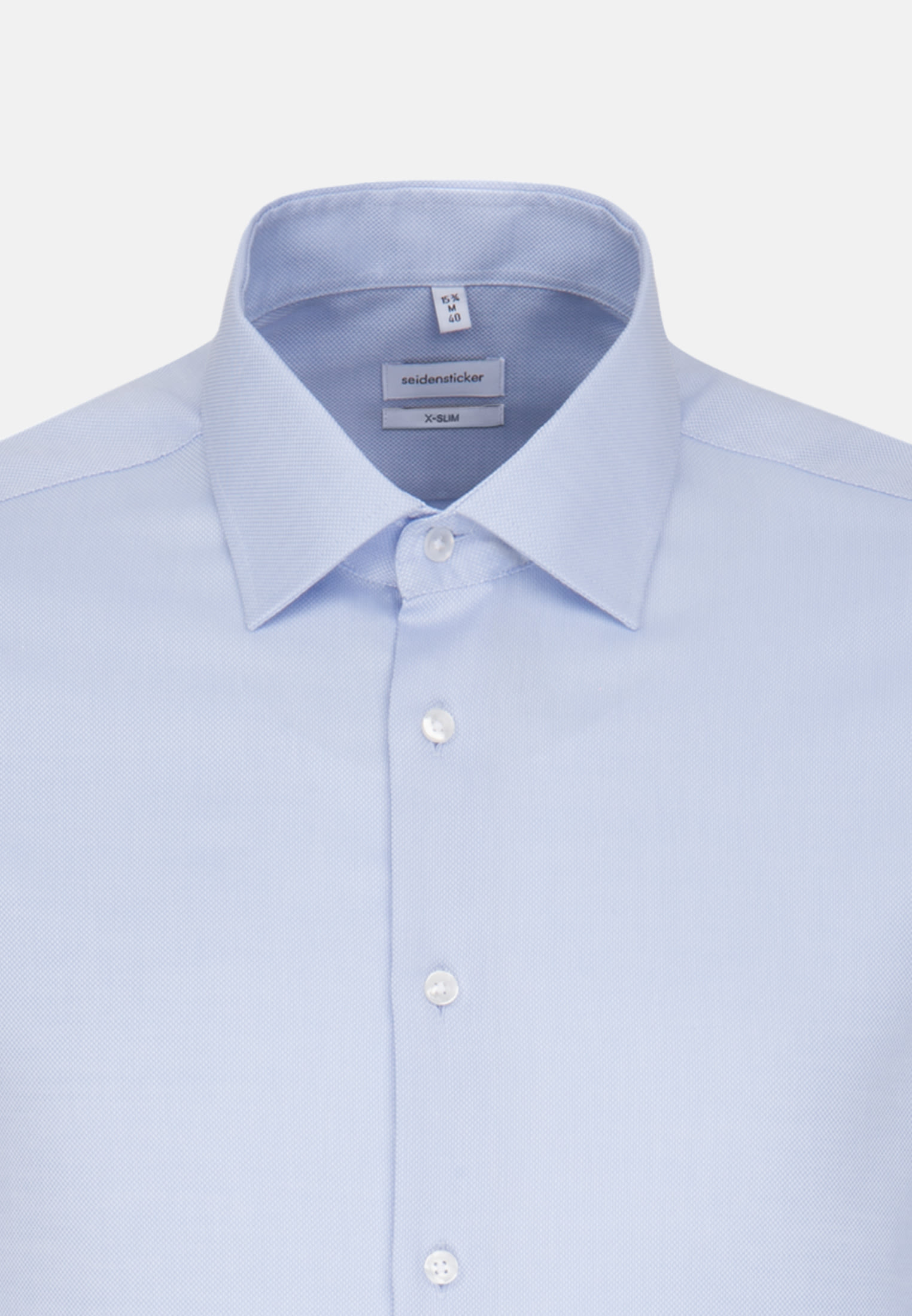 Non-iron Structure Business Shirt in X-Slim with Kent-Collar and extra long sleeve in Light blue |  Seidensticker Onlineshop