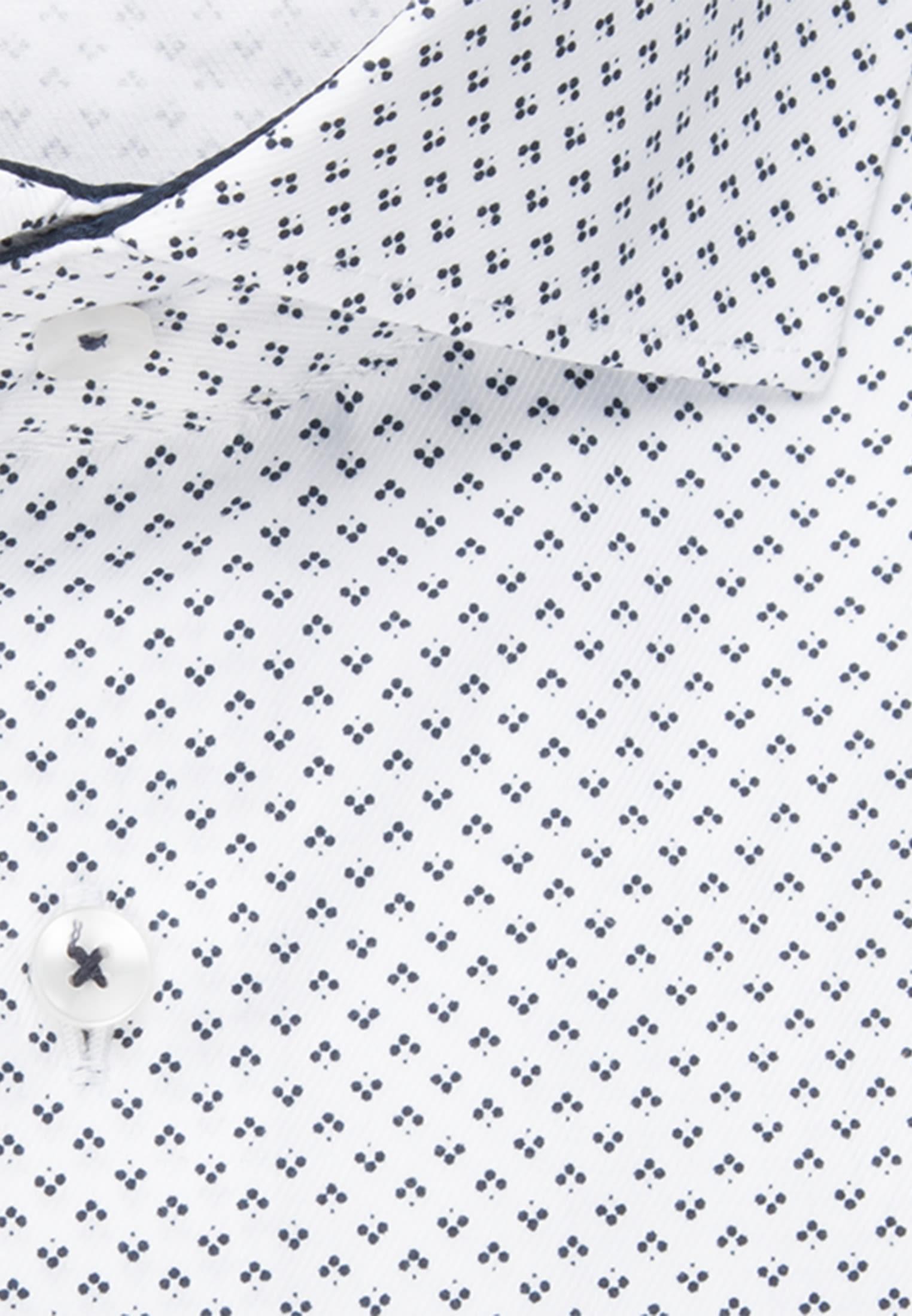 Bügelleichtes Twill Business Hemd in X-Slim mit Kentkragen und extra langem Arm in Dunkelblau |  Seidensticker Onlineshop