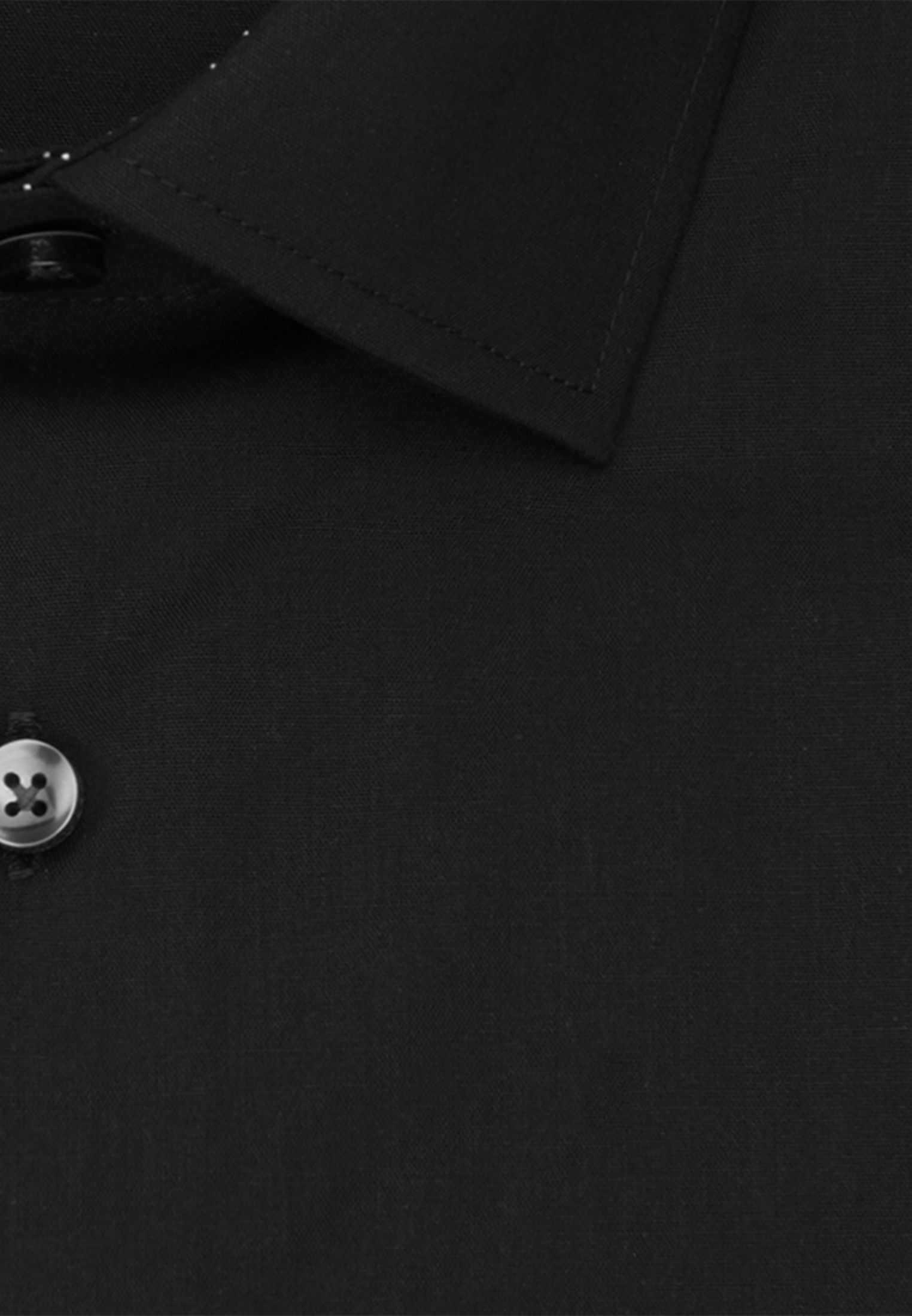 Non-iron Poplin Business Shirt in X-Slim with Kent-Collar and extra long sleeve in Black |  Seidensticker Onlineshop