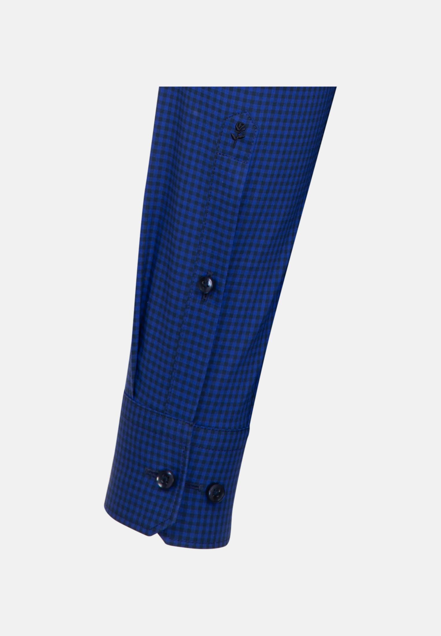 Non-iron Poplin Business Shirt in Shaped with Button-Down-Collar in Medium blue |  Seidensticker Onlineshop