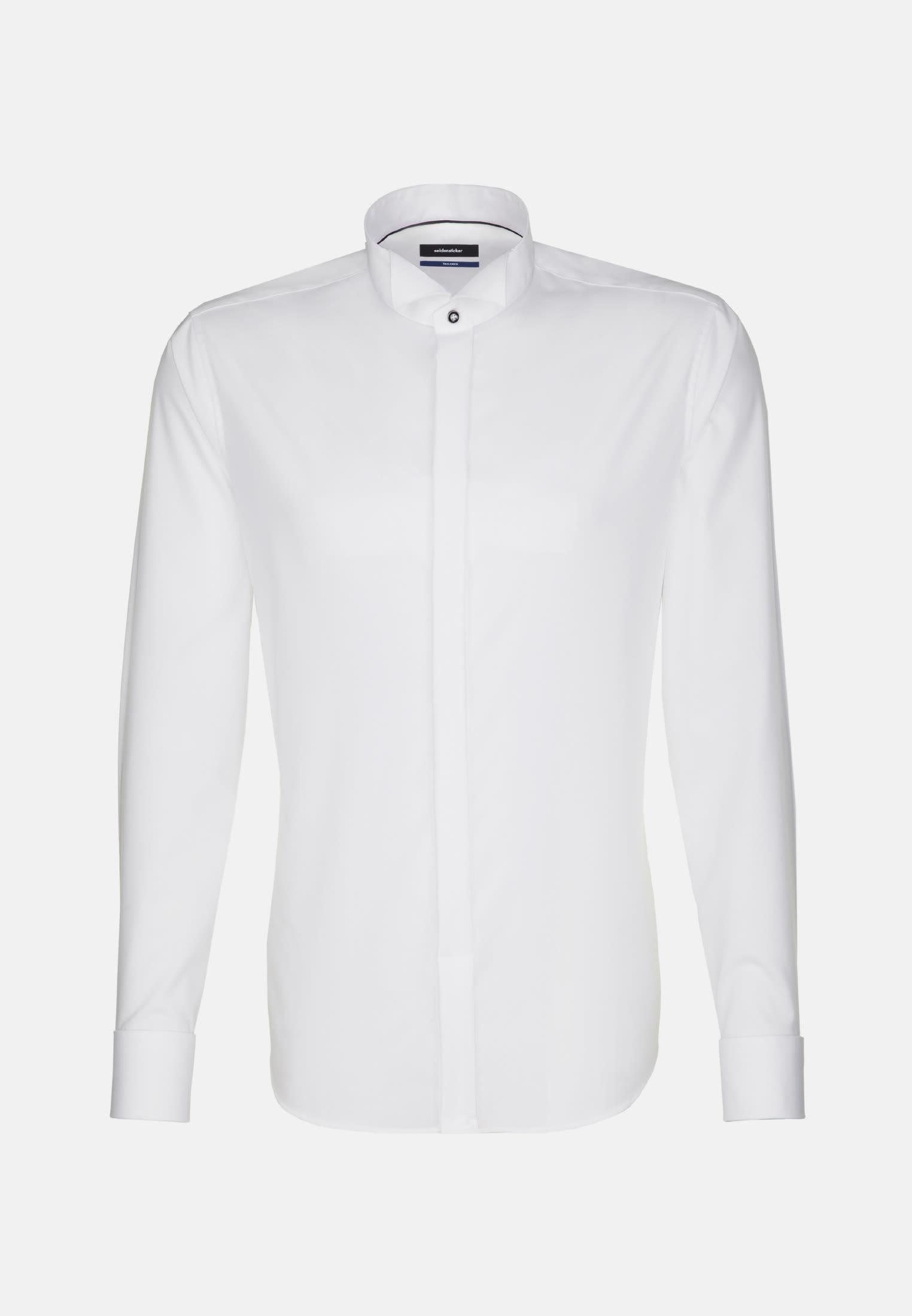 Non-iron Poplin Gala Shirt in Tailored with Wing Collar in White    Seidensticker Onlineshop