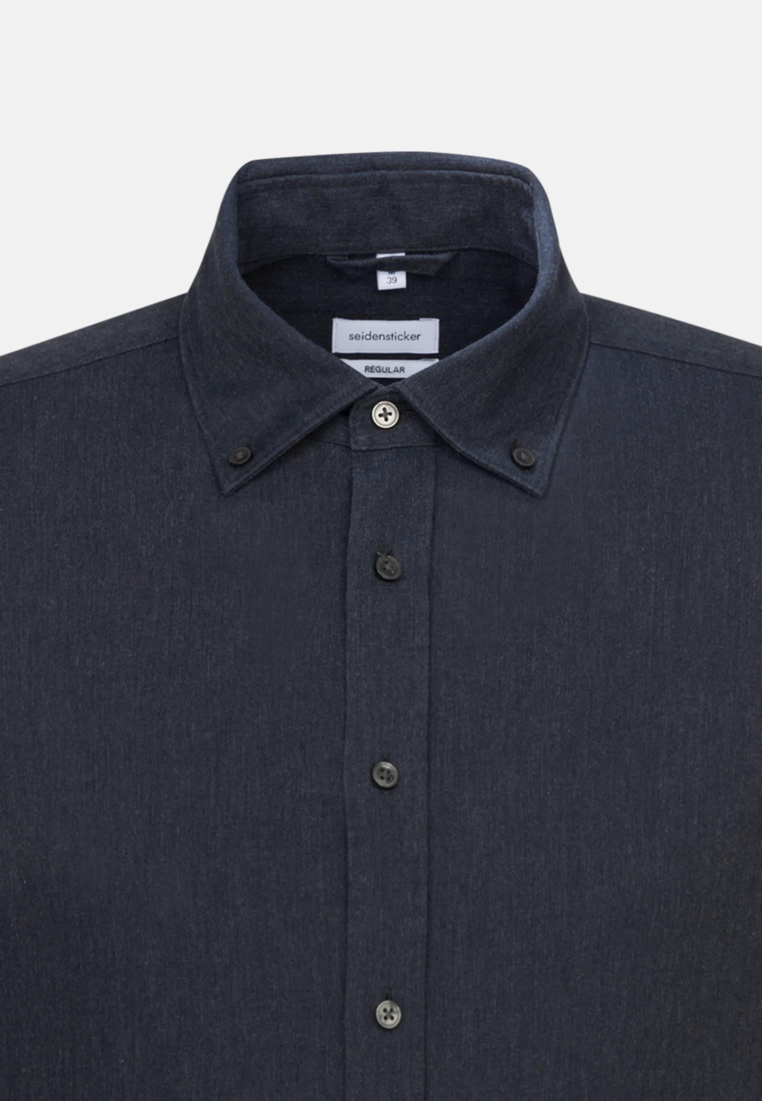 Panama Business Shirt in Regular with Button-Down-Collar in Grey    Seidensticker Onlineshop