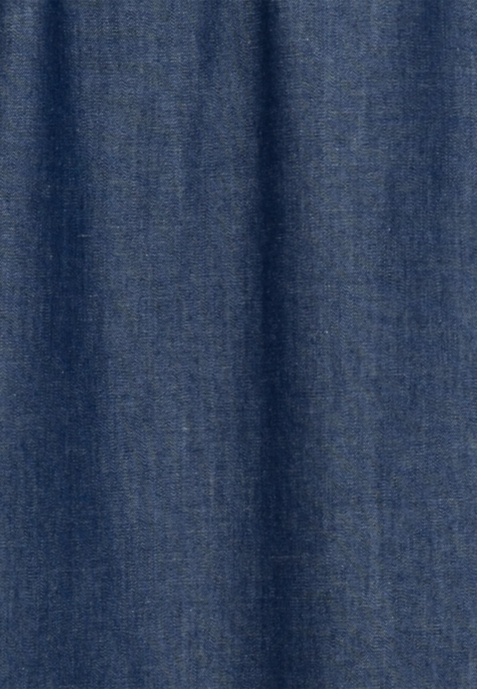 Denim Stehkragenbluse aus 100% Baumwolle in Dunkelblau |  Seidensticker Onlineshop