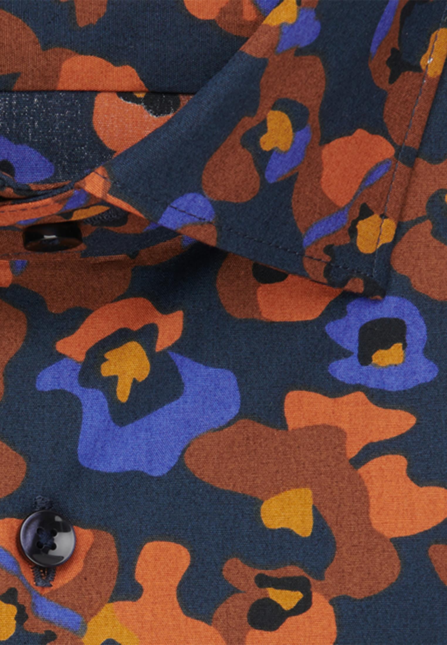 Easy-iron Poplin Business Shirt in Regular with Kent-Collar in Orange    Seidensticker Onlineshop
