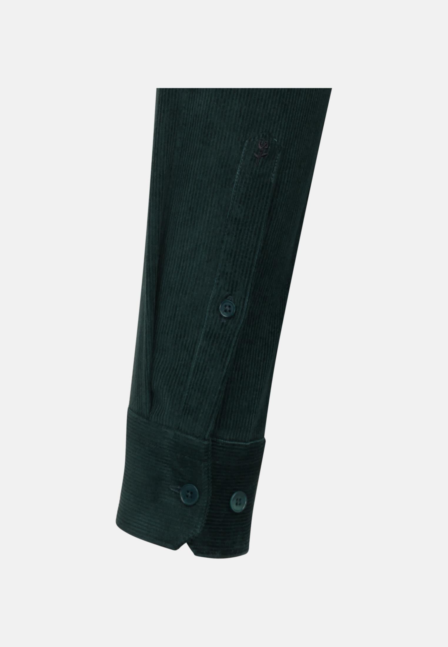 Easy-iron Corduroy Business Shirt in Slim with Kent-Collar in Green |  Seidensticker Onlineshop