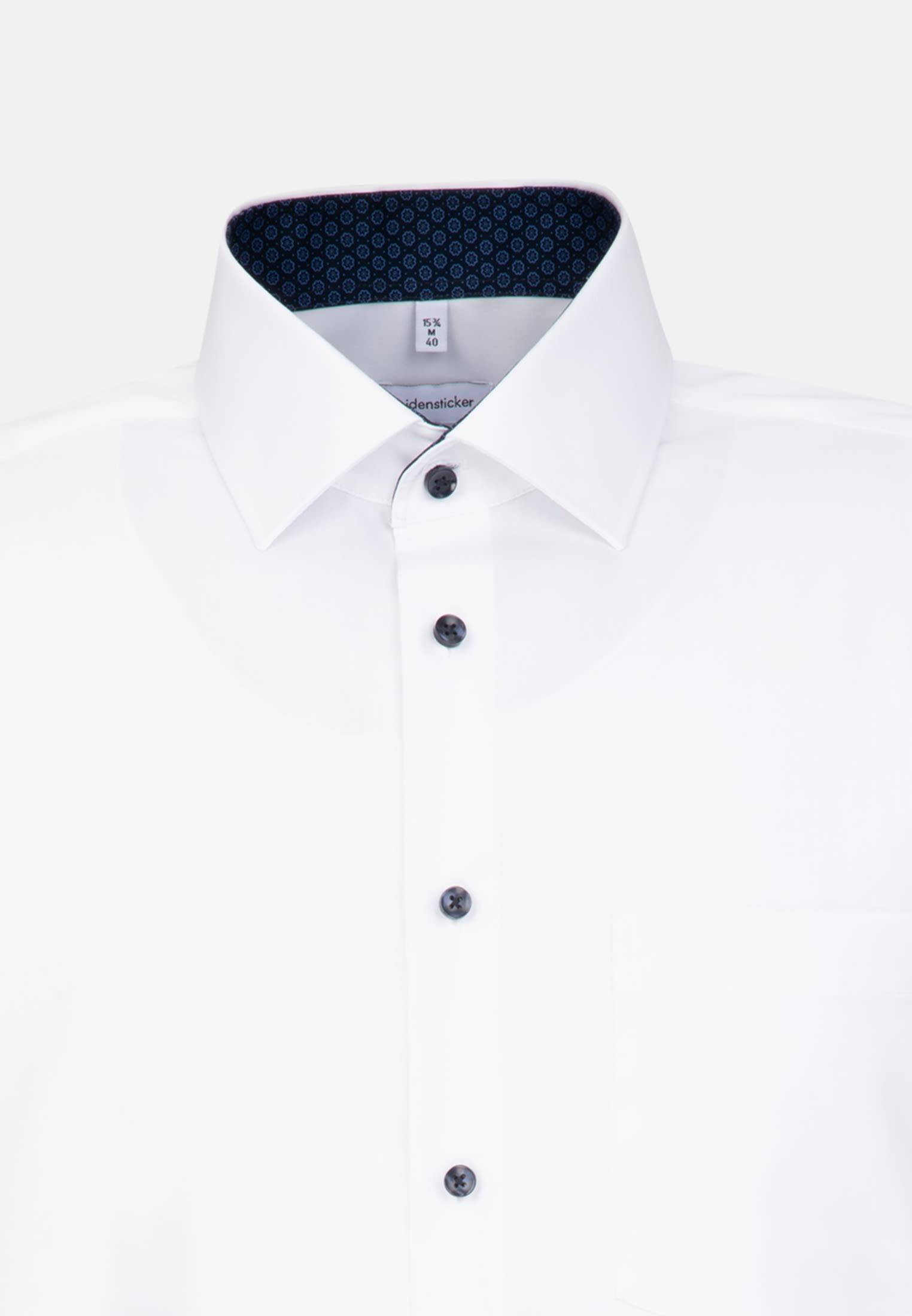 Non-iron Poplin Business Shirt in Comfort with Kent-Collar in White    Seidensticker Onlineshop